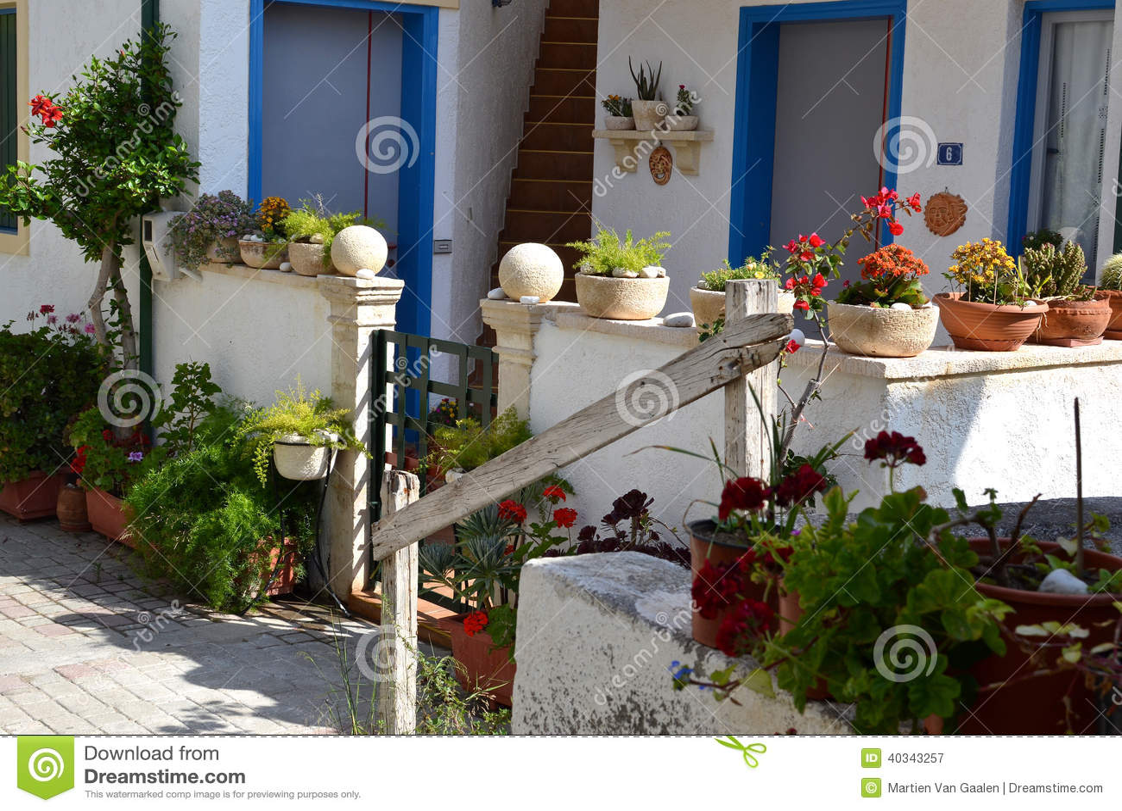 Tuin Potten Groothandel : De installaties van bloempotten stock afbeelding afbeelding