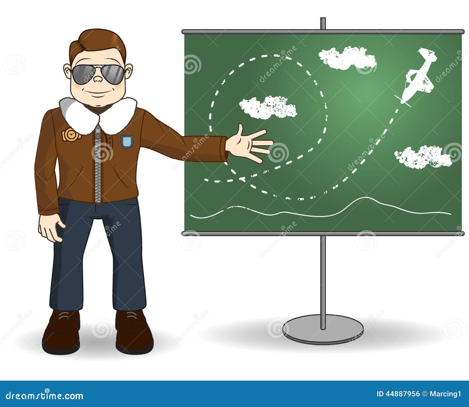 De instructeur van de beeldverhaalvlucht