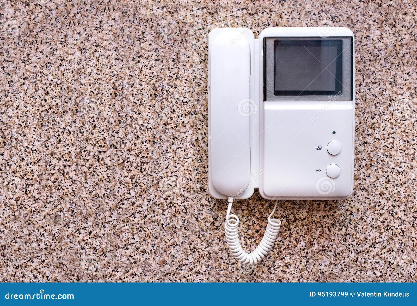 De intercom is een veiligheid en een praktisch apparaat