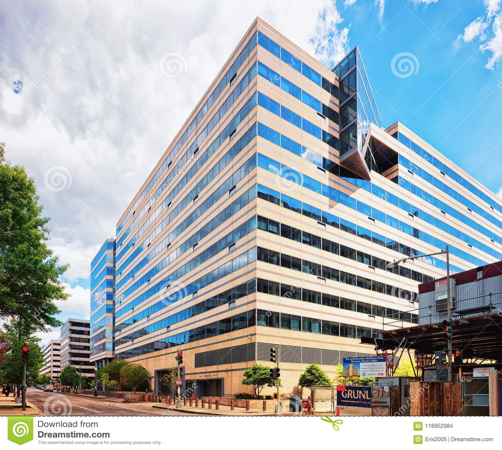 De internationaal monetair fondsenbouw in Washington