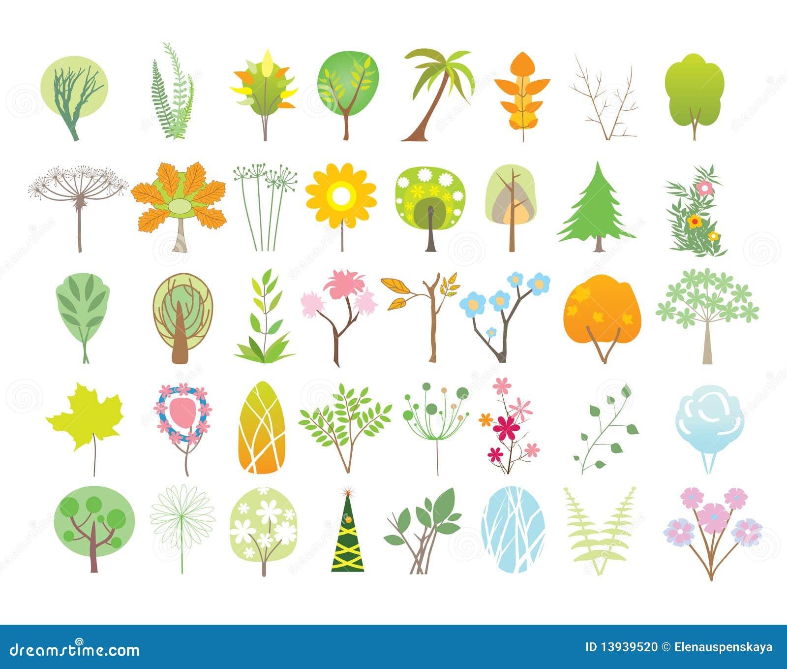 De inzameling van bomen