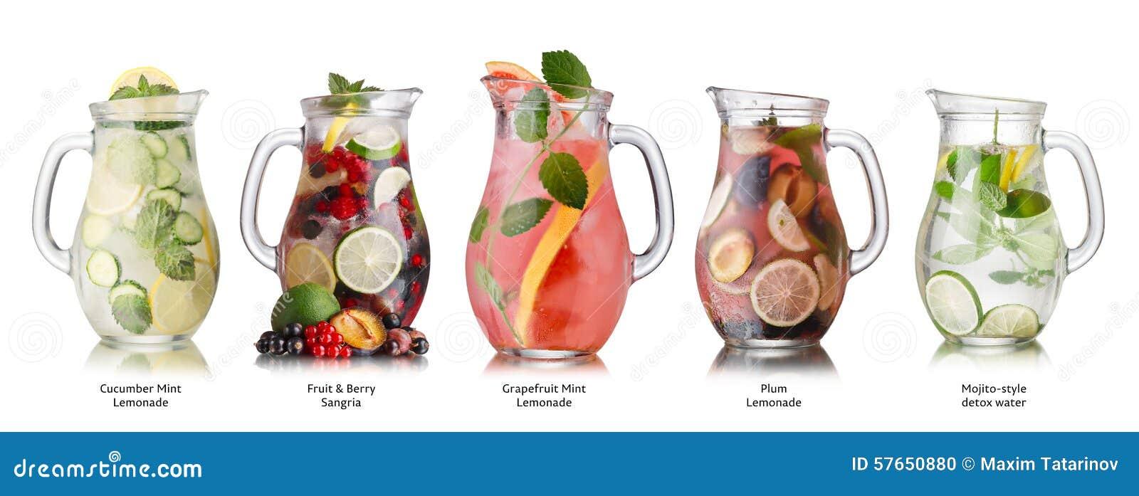De inzameling van de zomerdranken