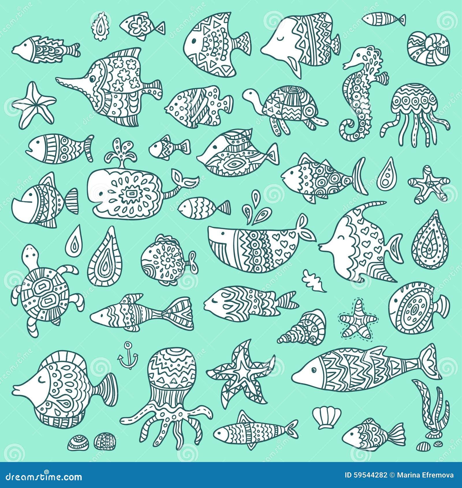 De inzameling van mariene vissen en zoogdieren