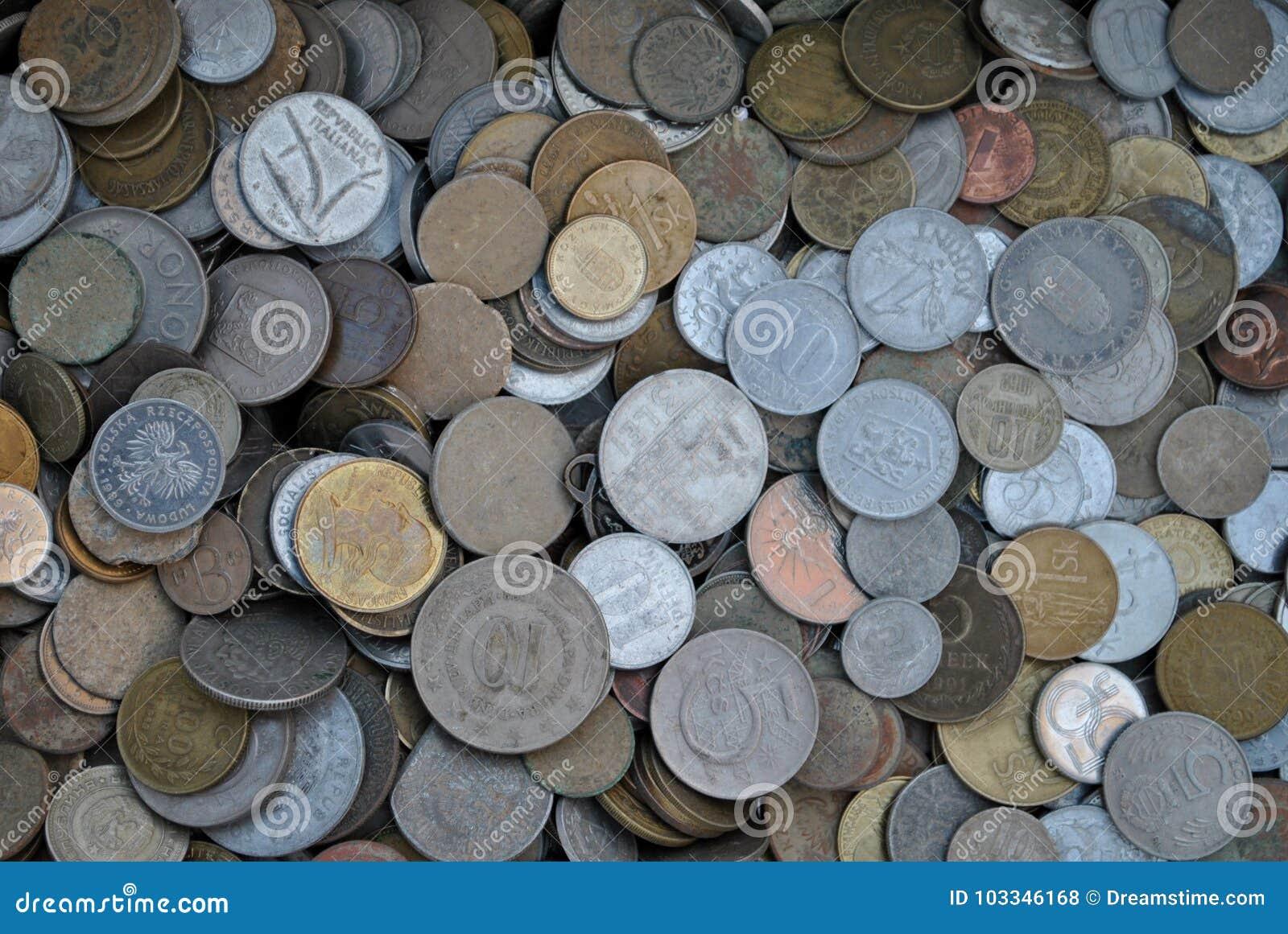 De inzameling van oude muntstukken