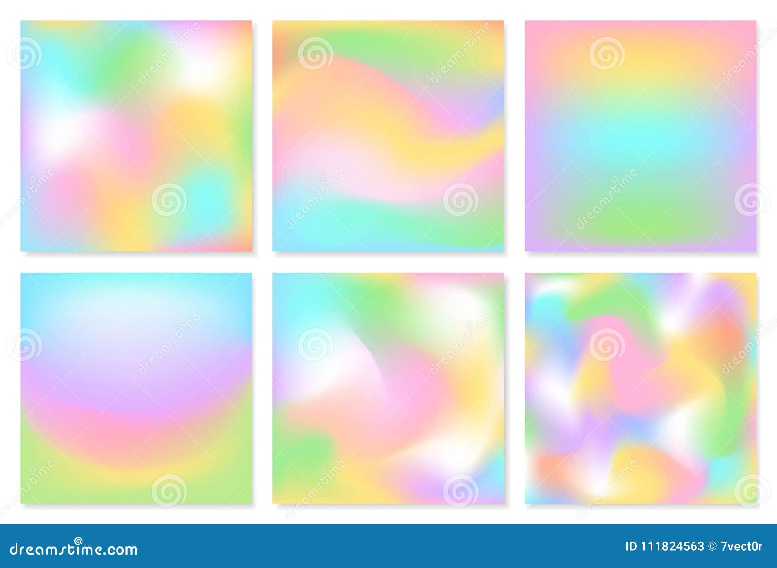 De inzameling van vierkant vertroebelde zachte kleurrijke Pasen-vlotte de gradiëntstroom van de lente verse vlotte roze blauwgroe