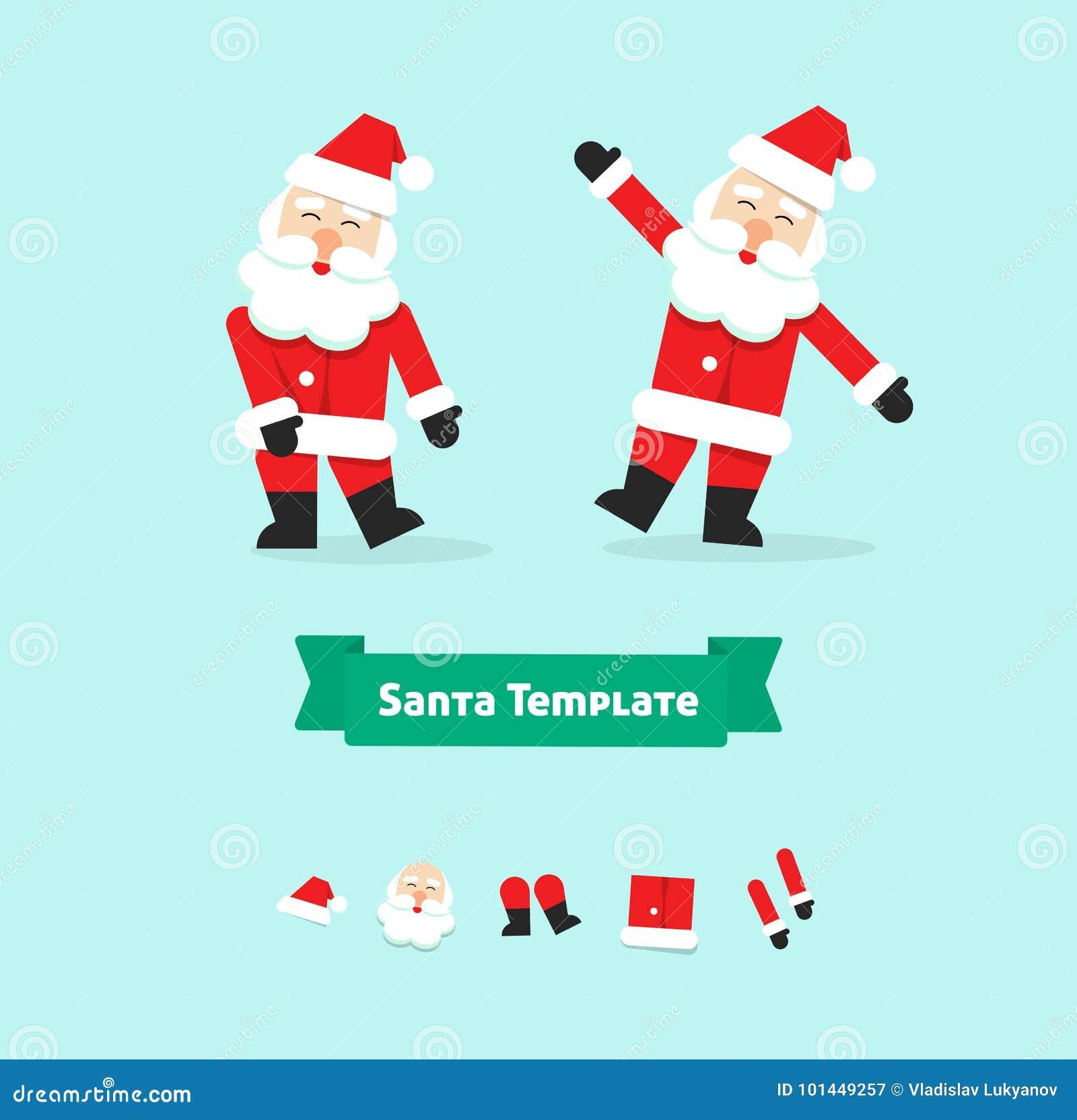 De inzamelingsdocument van Kerstmissanta claus symbool van de stijl het vectorillustratie, gelukkige nieuwe die jaarvader, pictog