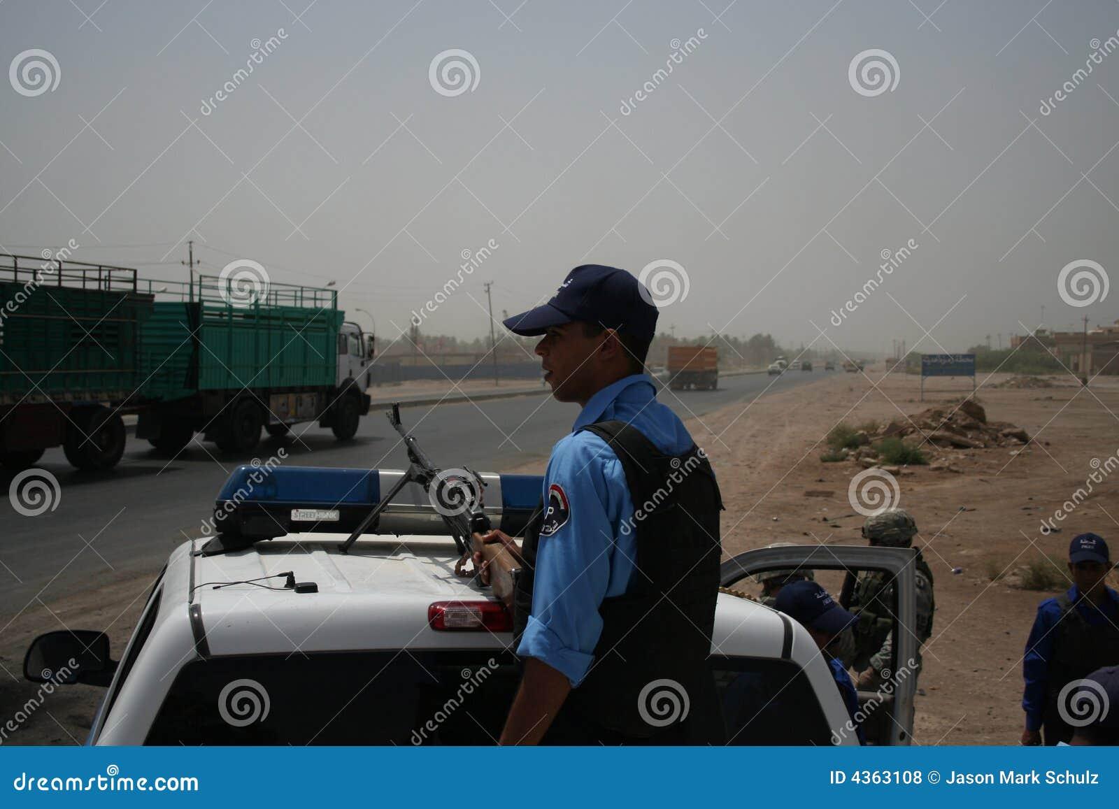 De Iraakse Controlepost Overwatch van de Politie