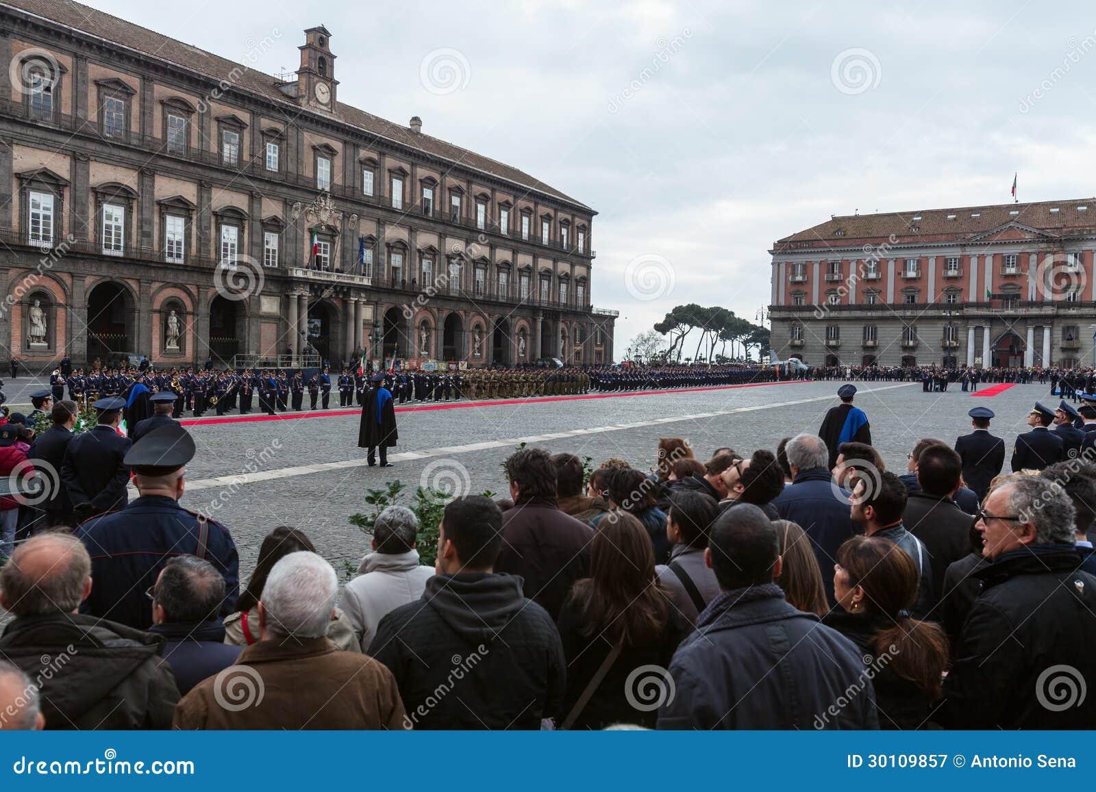 Herdenking van de honderdjarige viering met de Italiaanse lucht force