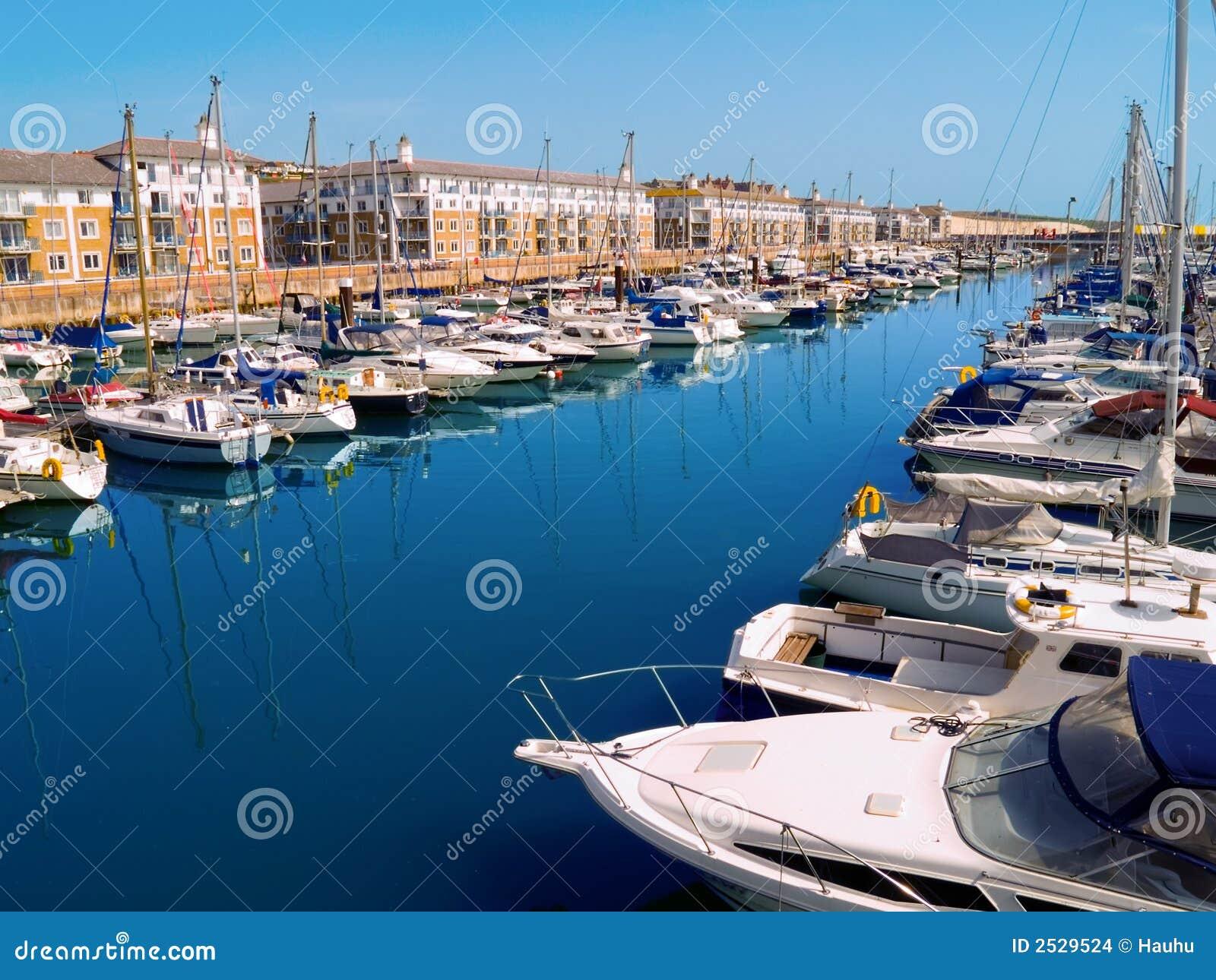 De Jachthaven van Brighton, het UK
