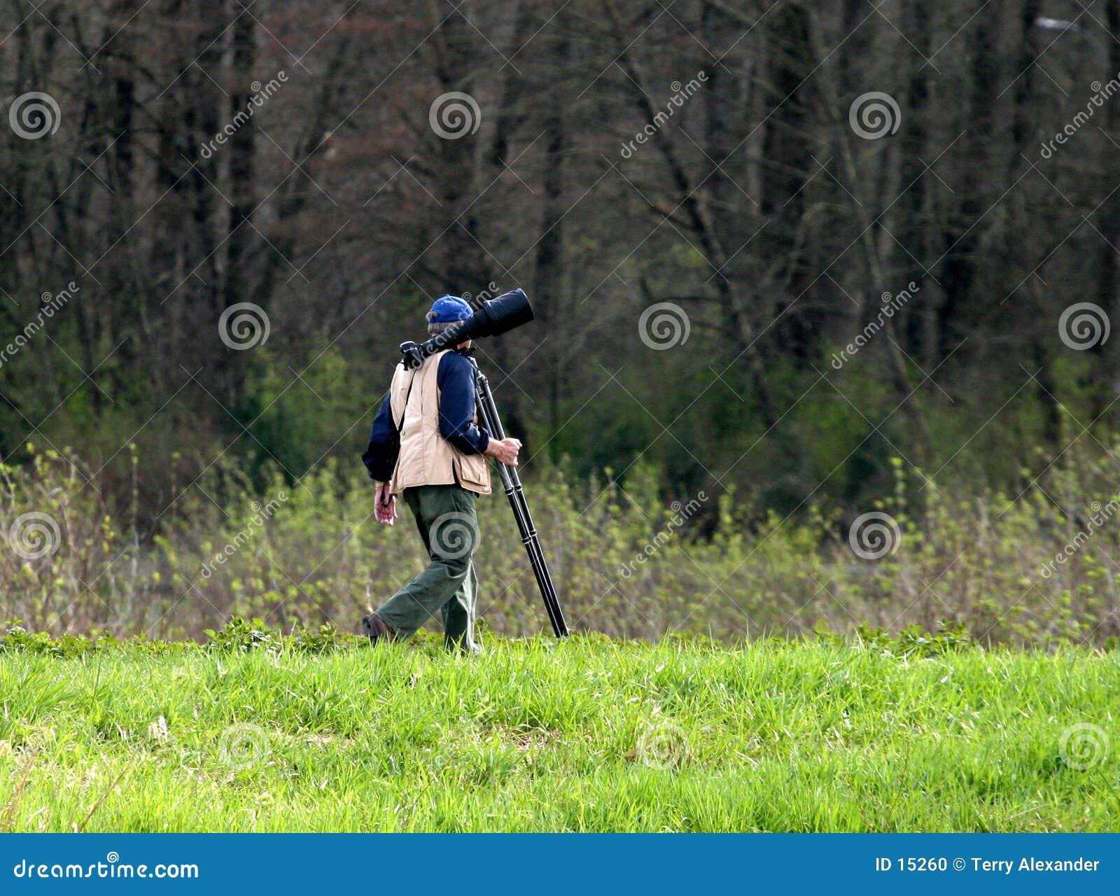 De jager van de foto