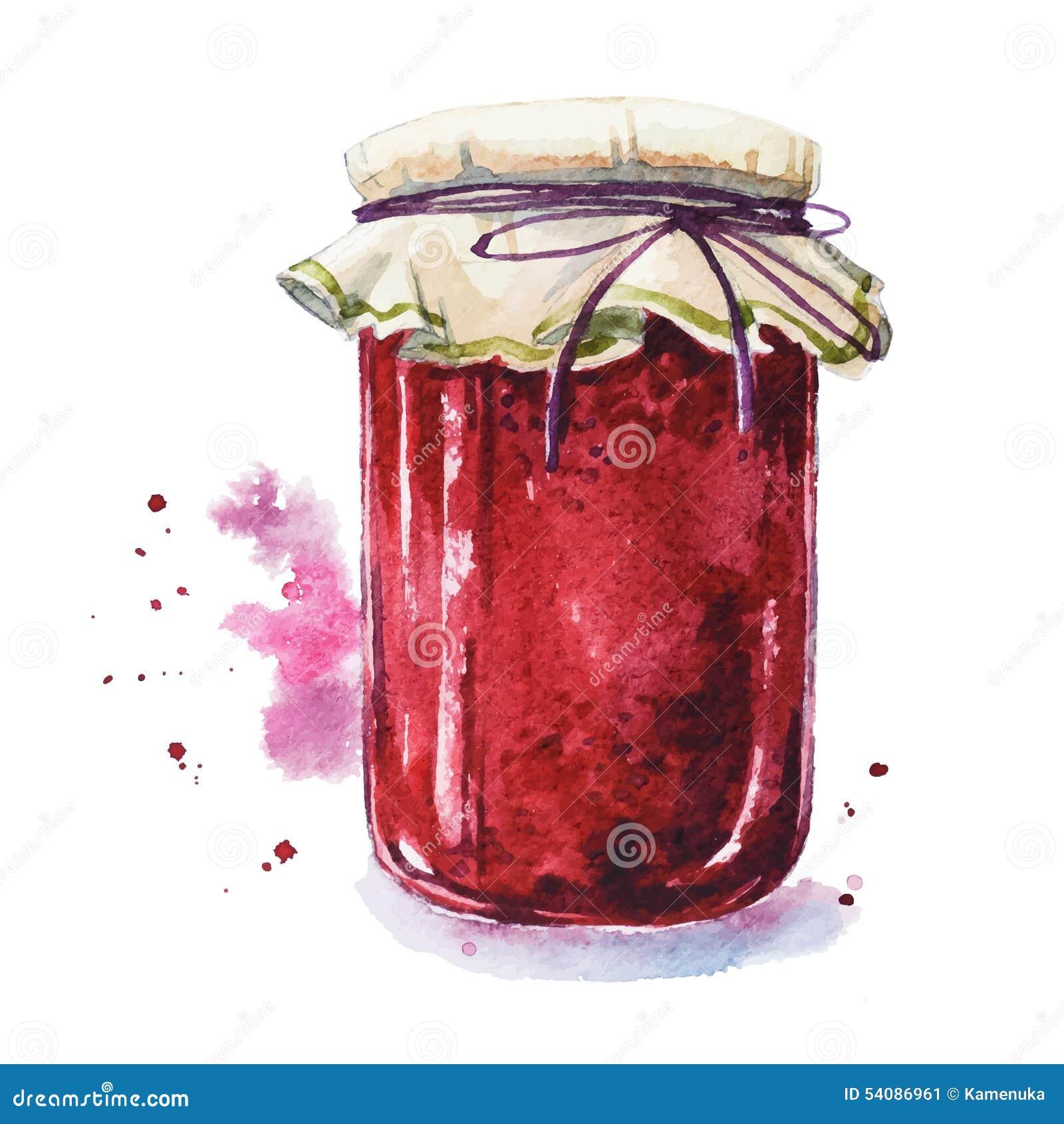Download De Jam Van Het Fruit Mason Jar Vector Illustratie - Illustratie bestaande uit art, vlekken: 54086961