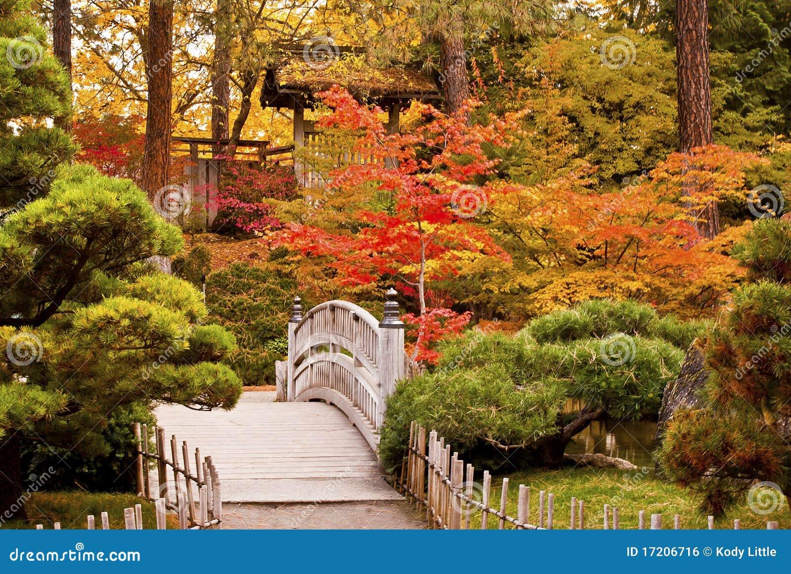 De Japanse Tuin Van De Herfst Royalty Vrije Stock