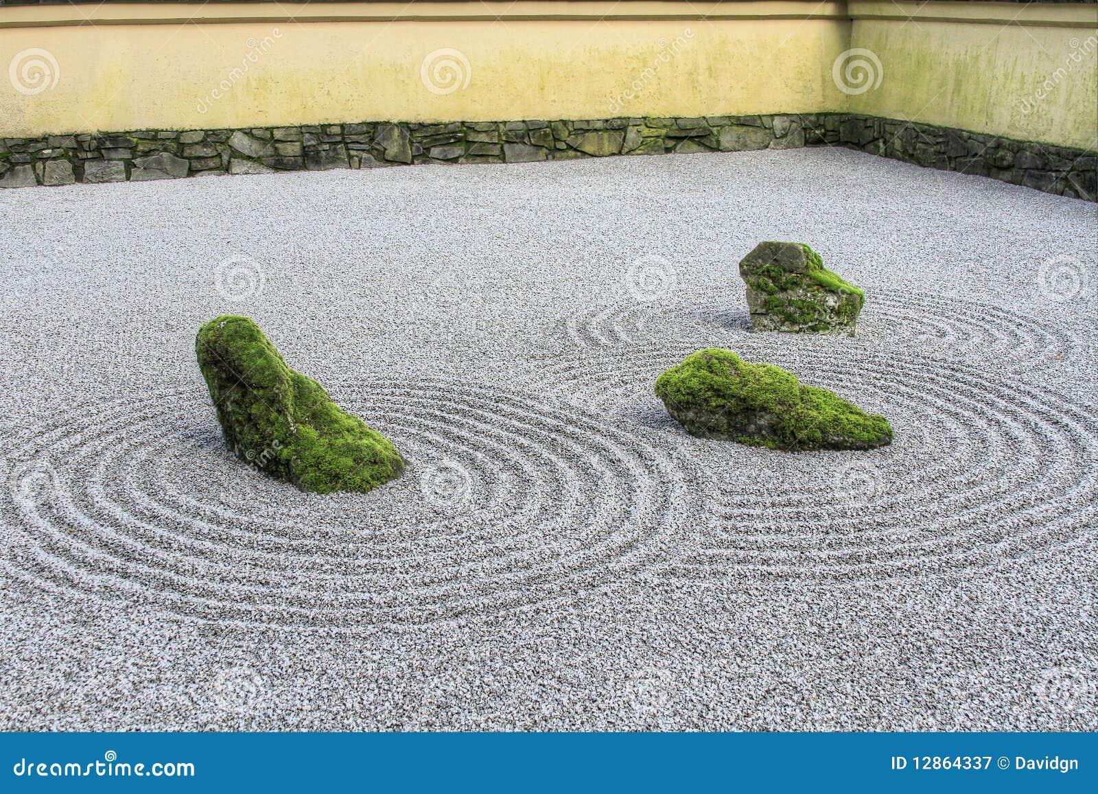 De Japanse Tuin Van Het Zand Zen Royalty vrije Stock