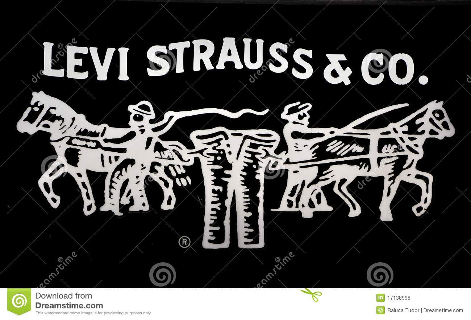 De jeansembleem van Levi strauss