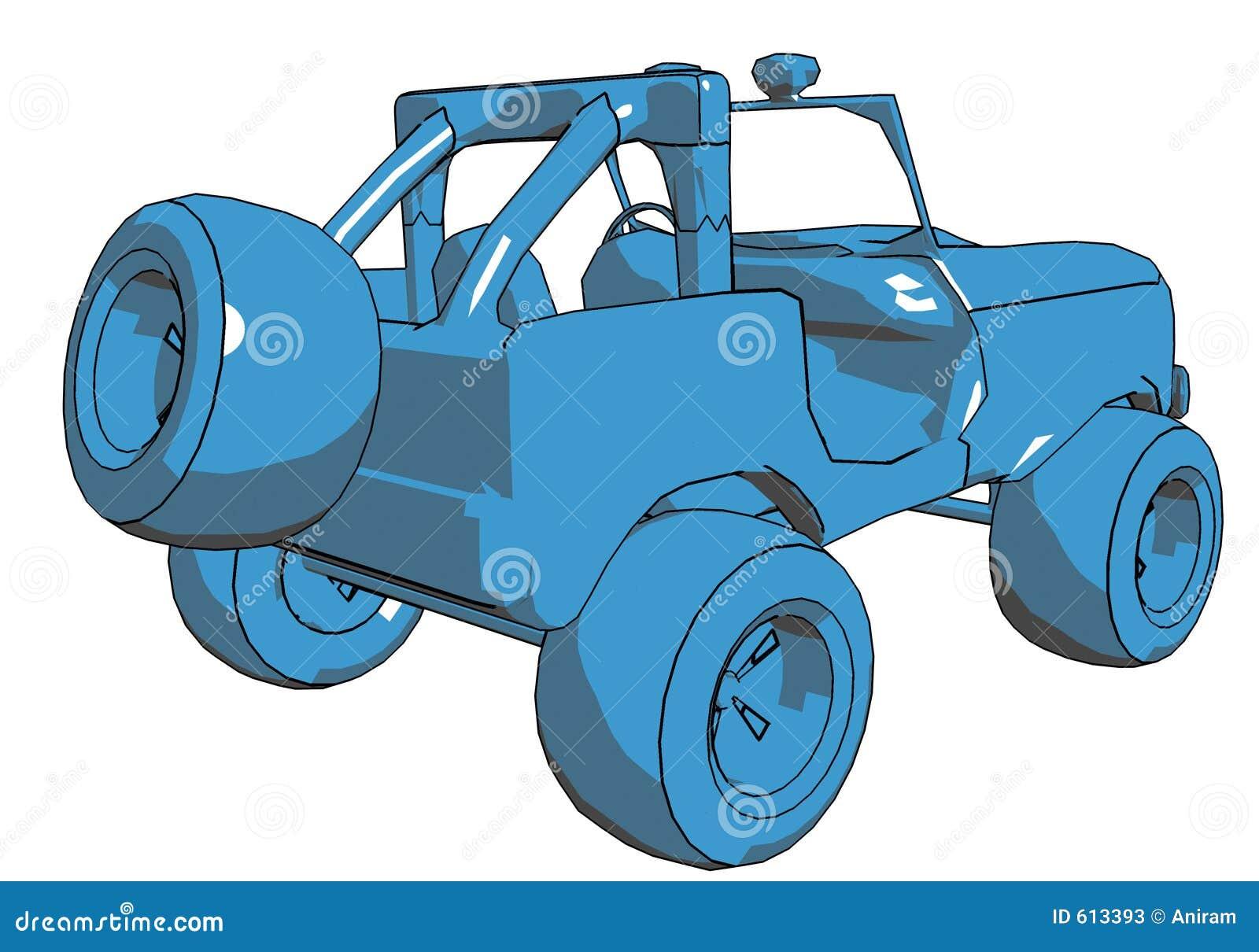 De Jeep van het beeldverhaal