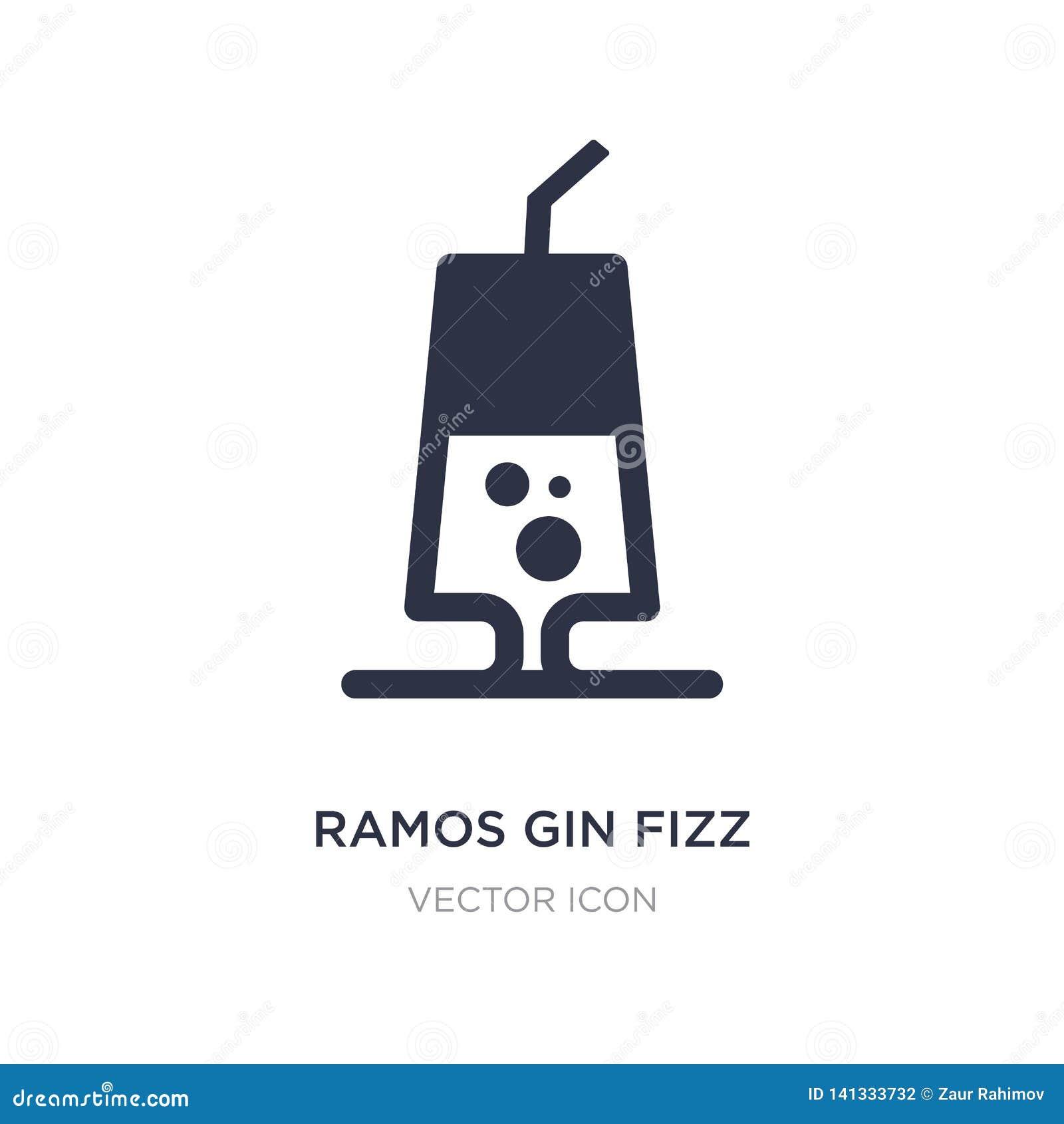 De jenever van Ramos bruist pictogram op witte achtergrond Eenvoudige elementenillustratie van Drankenconcept