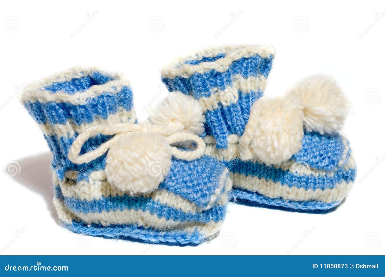De Jonge Geitjes Breien De Sokjes Van De Baby Stock Afbeelding
