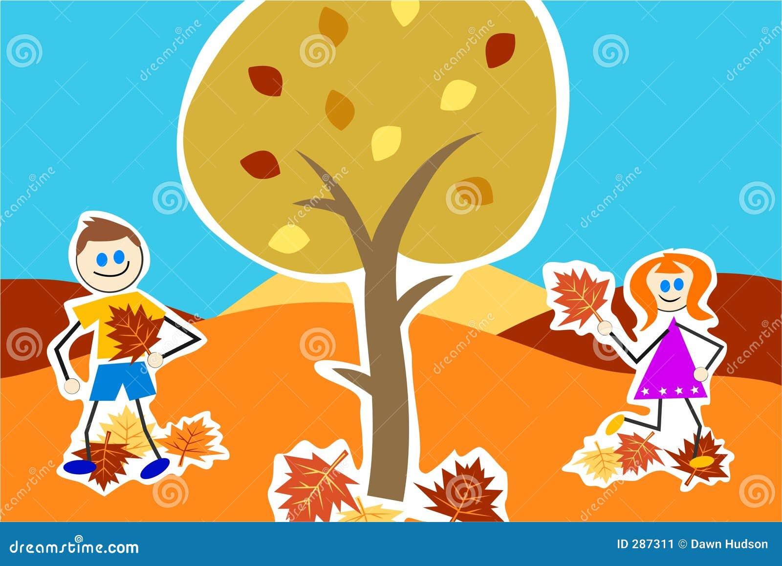De jonge geitjes van de herfst