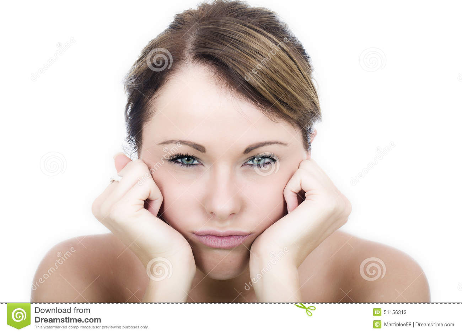 De Jonge Vrouw van Fed Up Bored Frustrated Grumpy