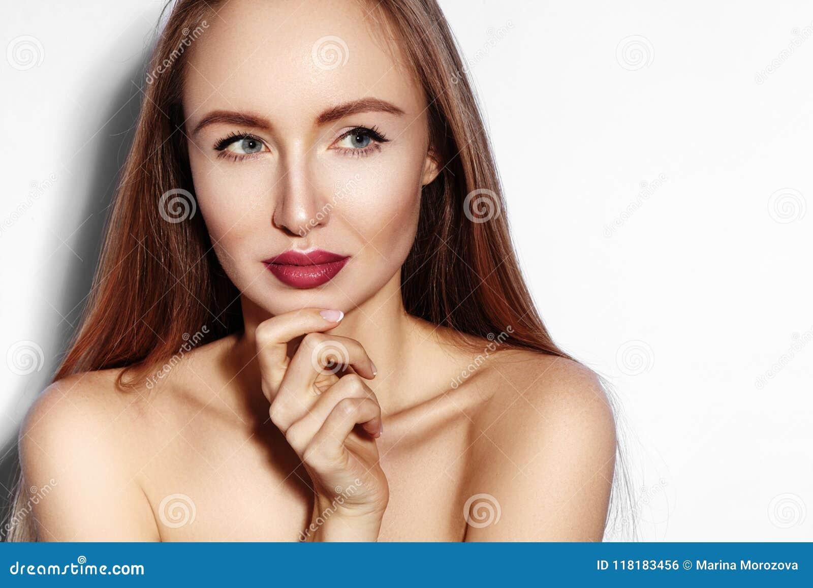 Lippen flirten