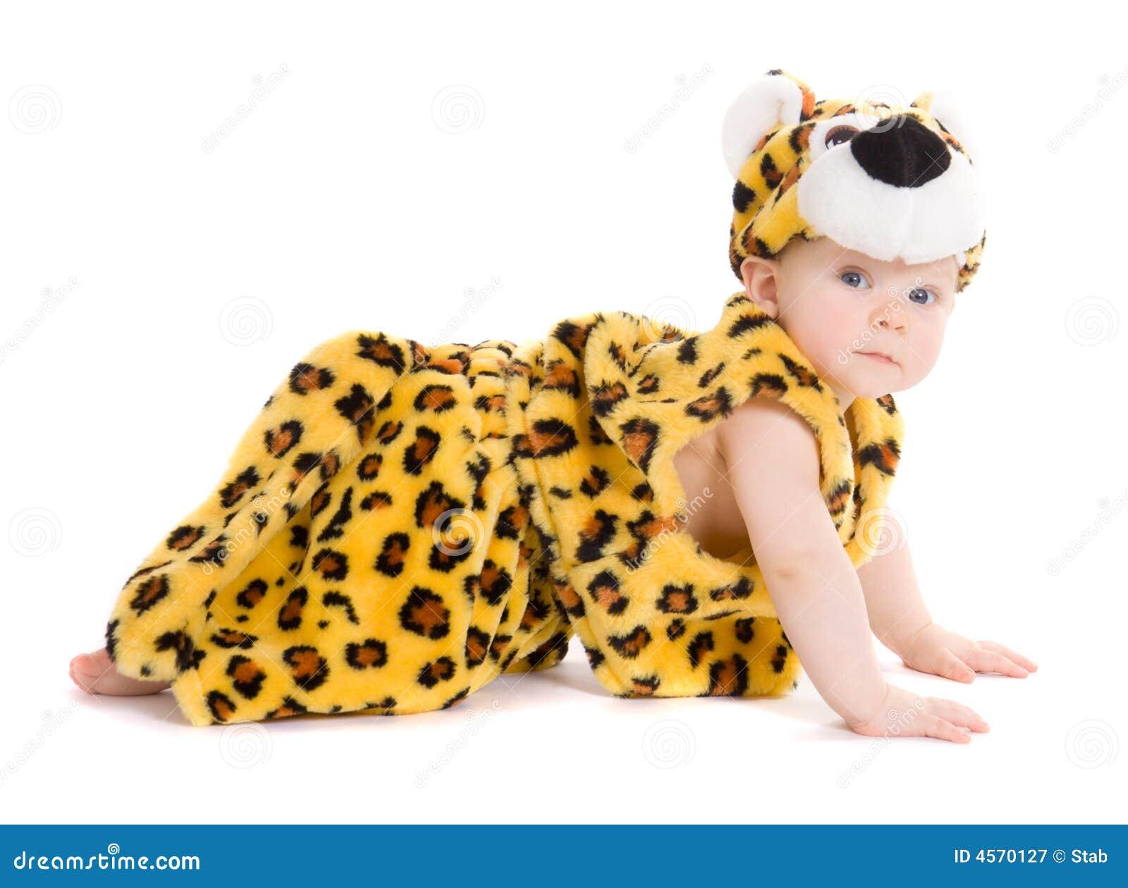 De jongen op de leeftijd van 7 maanden weared als tijger stock afbeelding afbeelding 4570127 - De kamer van de jongen ...
