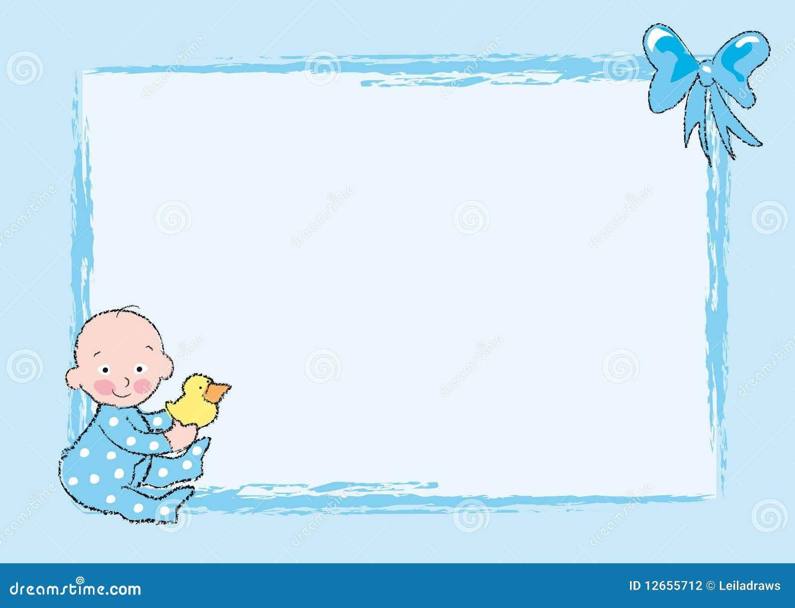 De jongen van de baby stock illustratie afbeelding bestaande uit grens 12655712 - Lay outs ruimte van de jongen ...