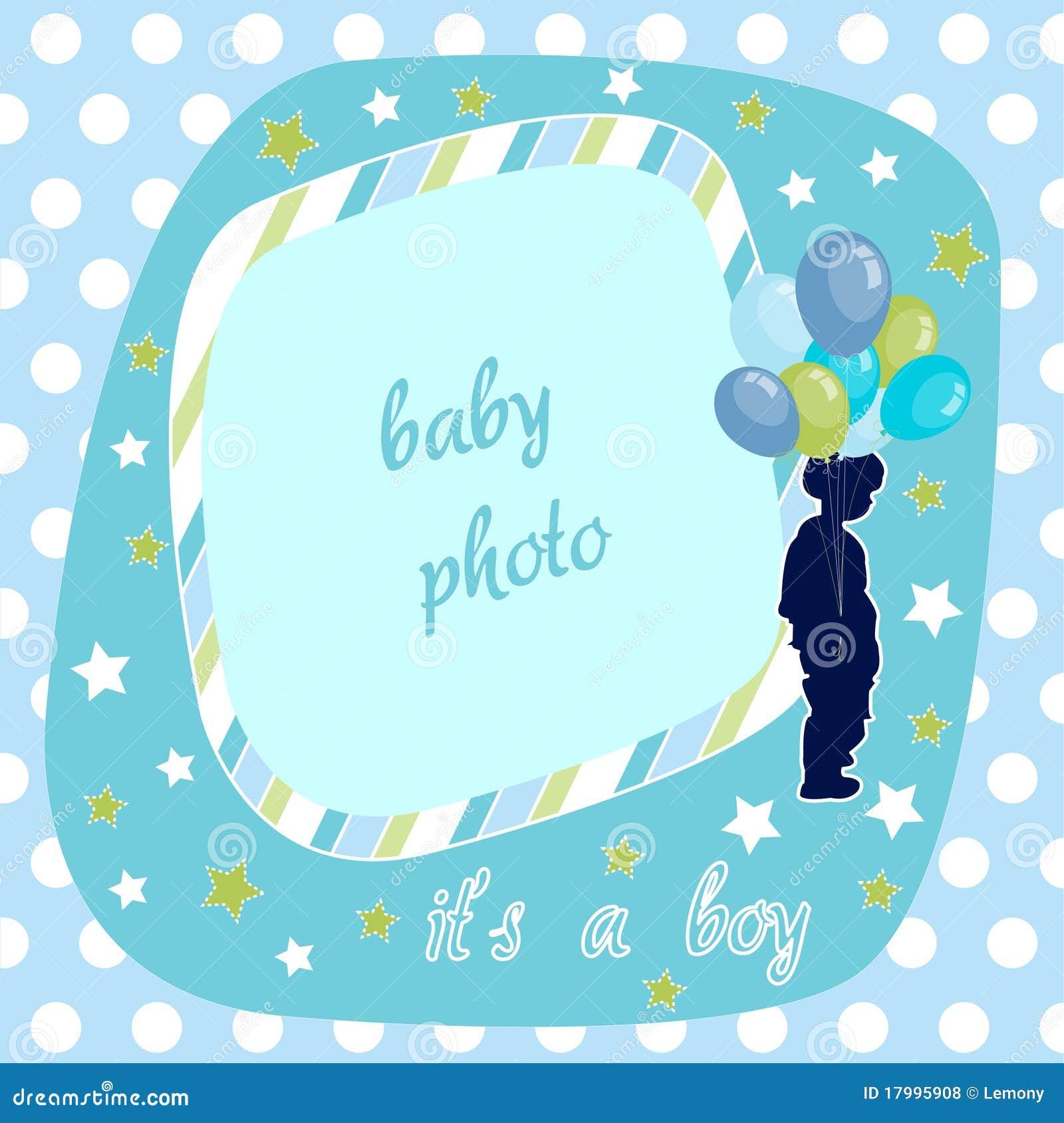 De jongen van de baby blauw fotoframe vector illustratie afbeelding 17995908 - Turquoise ruimte van de jongen ...