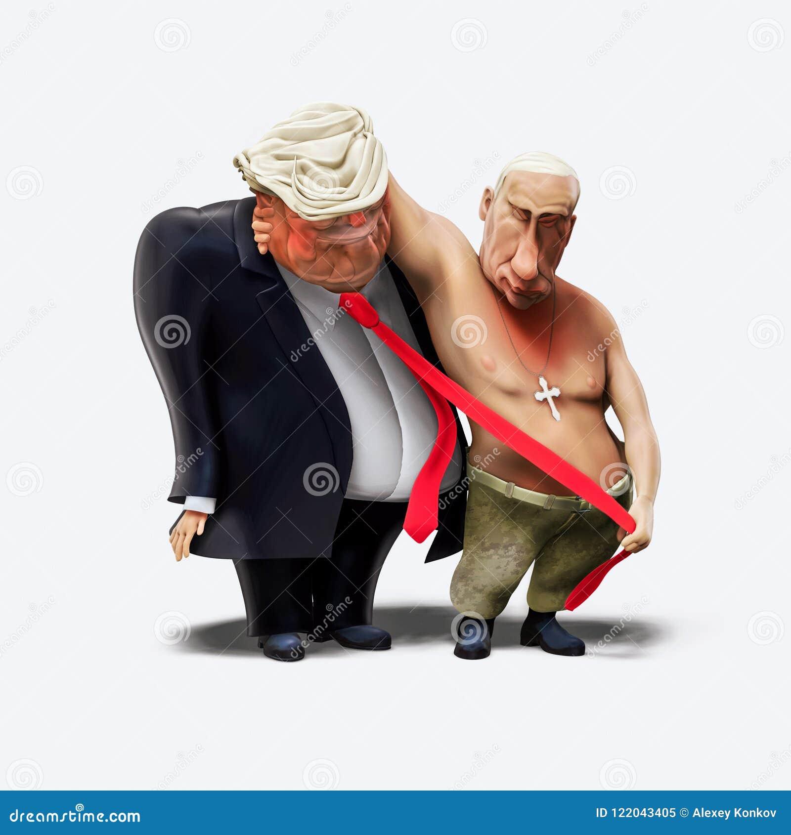 16 de julho de 2018: O trunfo e Putin tiveram a reunião em Helsínquia ilustração 3D