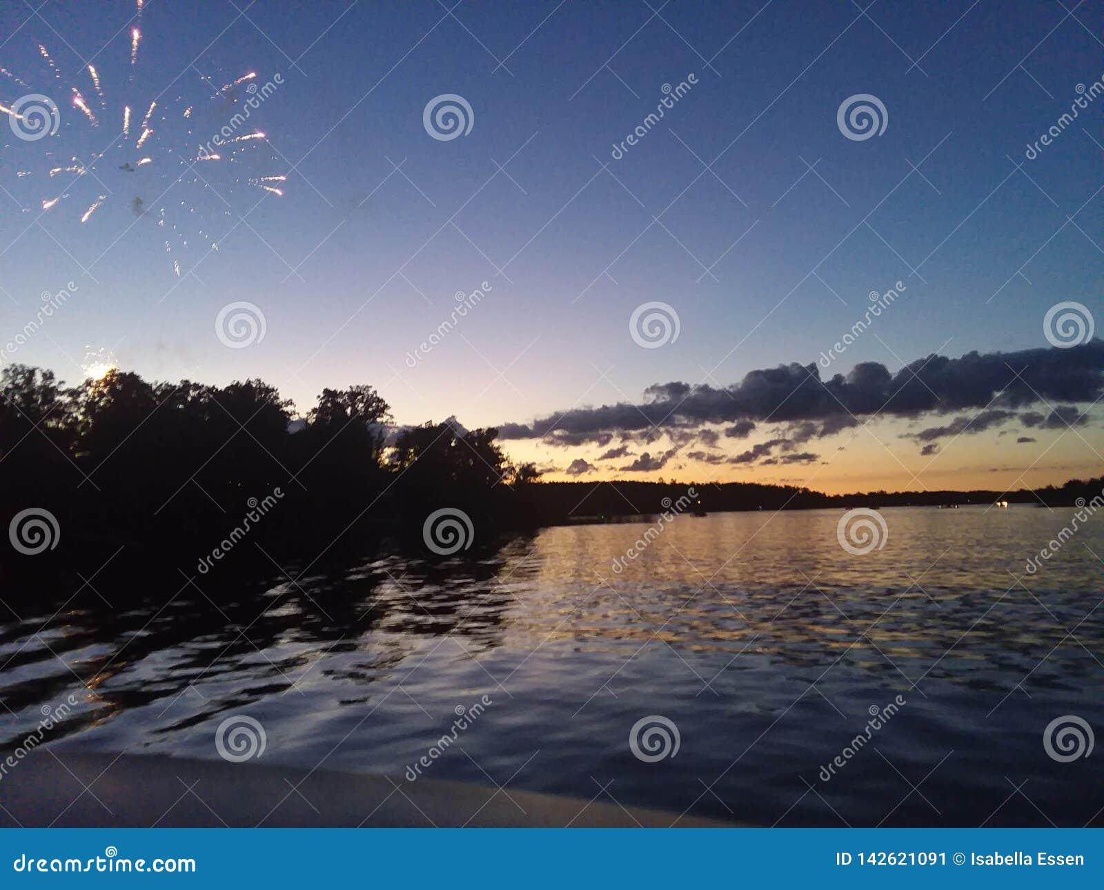4de of Juli-zonsondergang