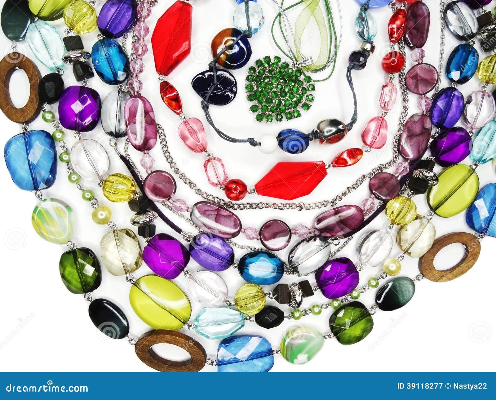 De juwelen van kristallenparels als manierachtergrond