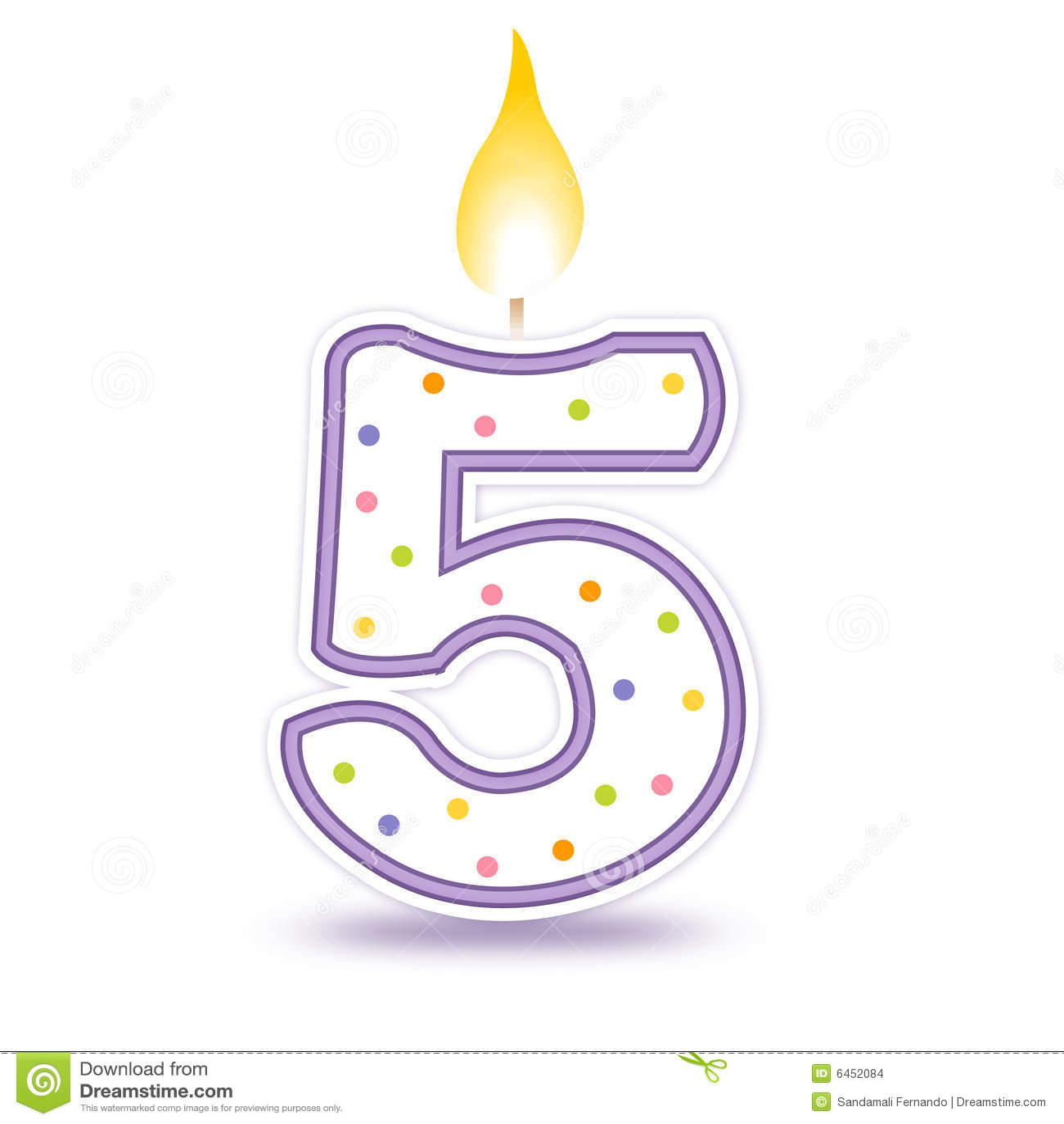 De kaars van de verjaardag - 5