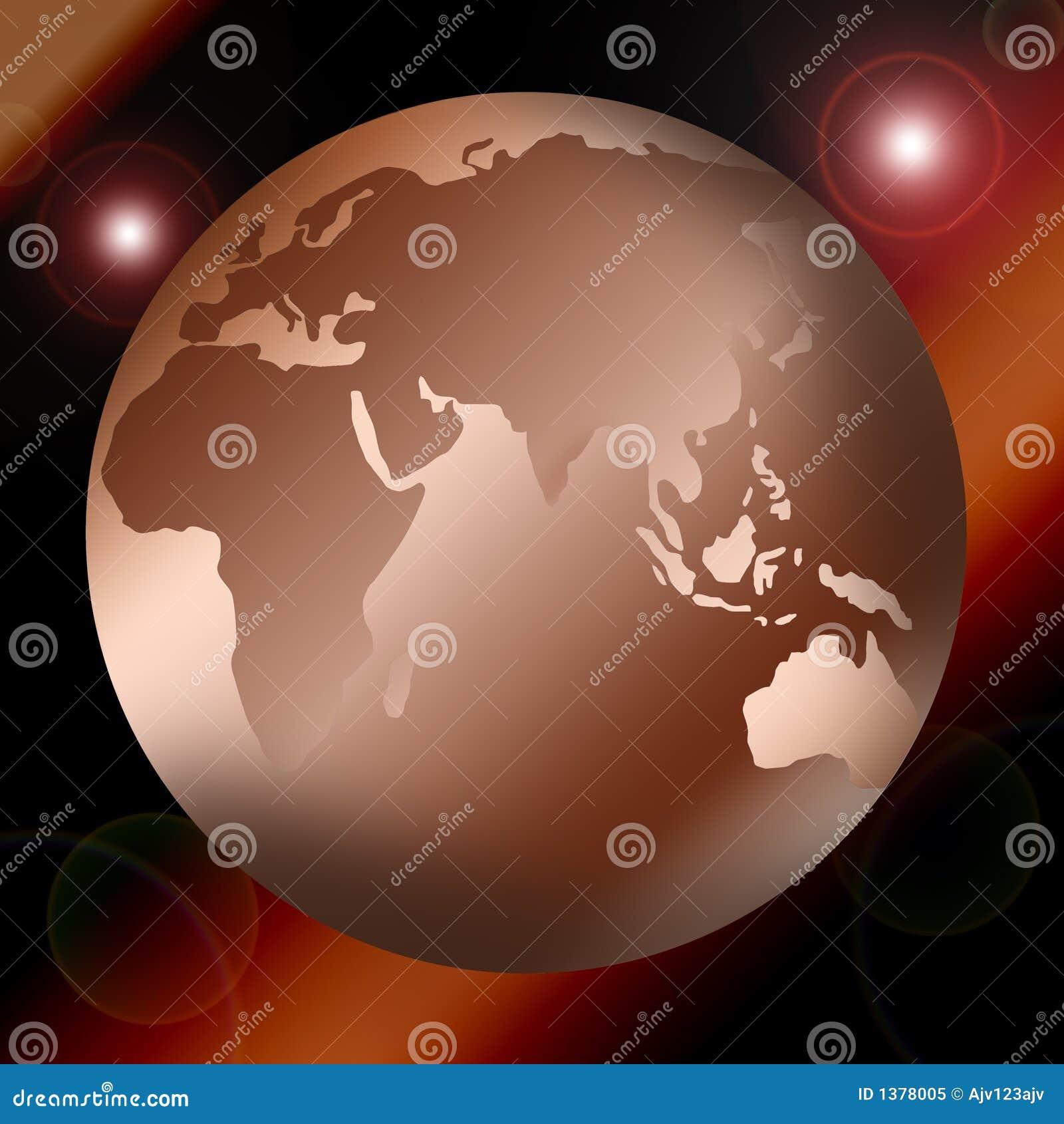 De kaart of de bol van de wereld
