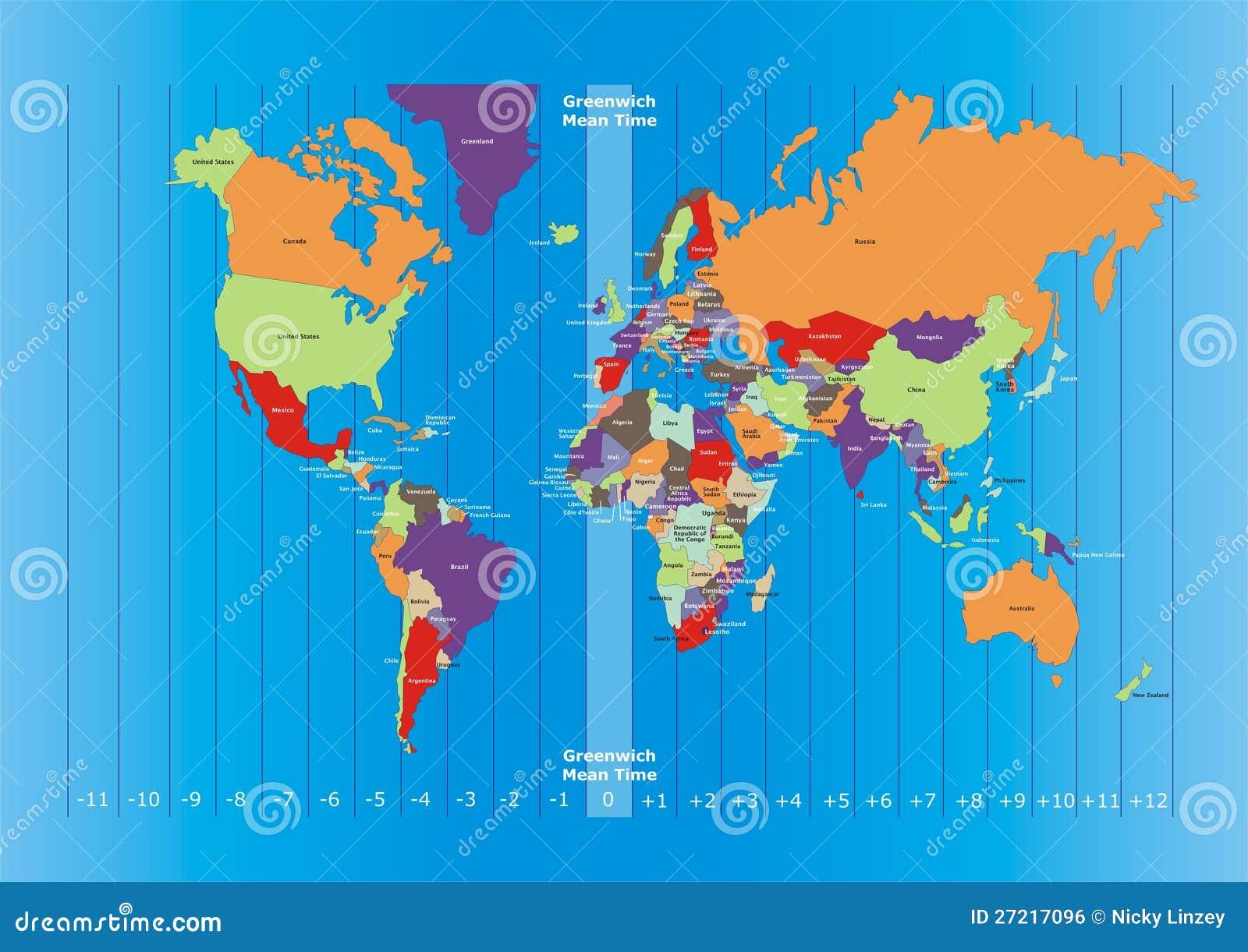De kaart en de tijdzones van de wereld royalty vrije stock afbeelding afbeelding 27217096 - Wereld kruk ...