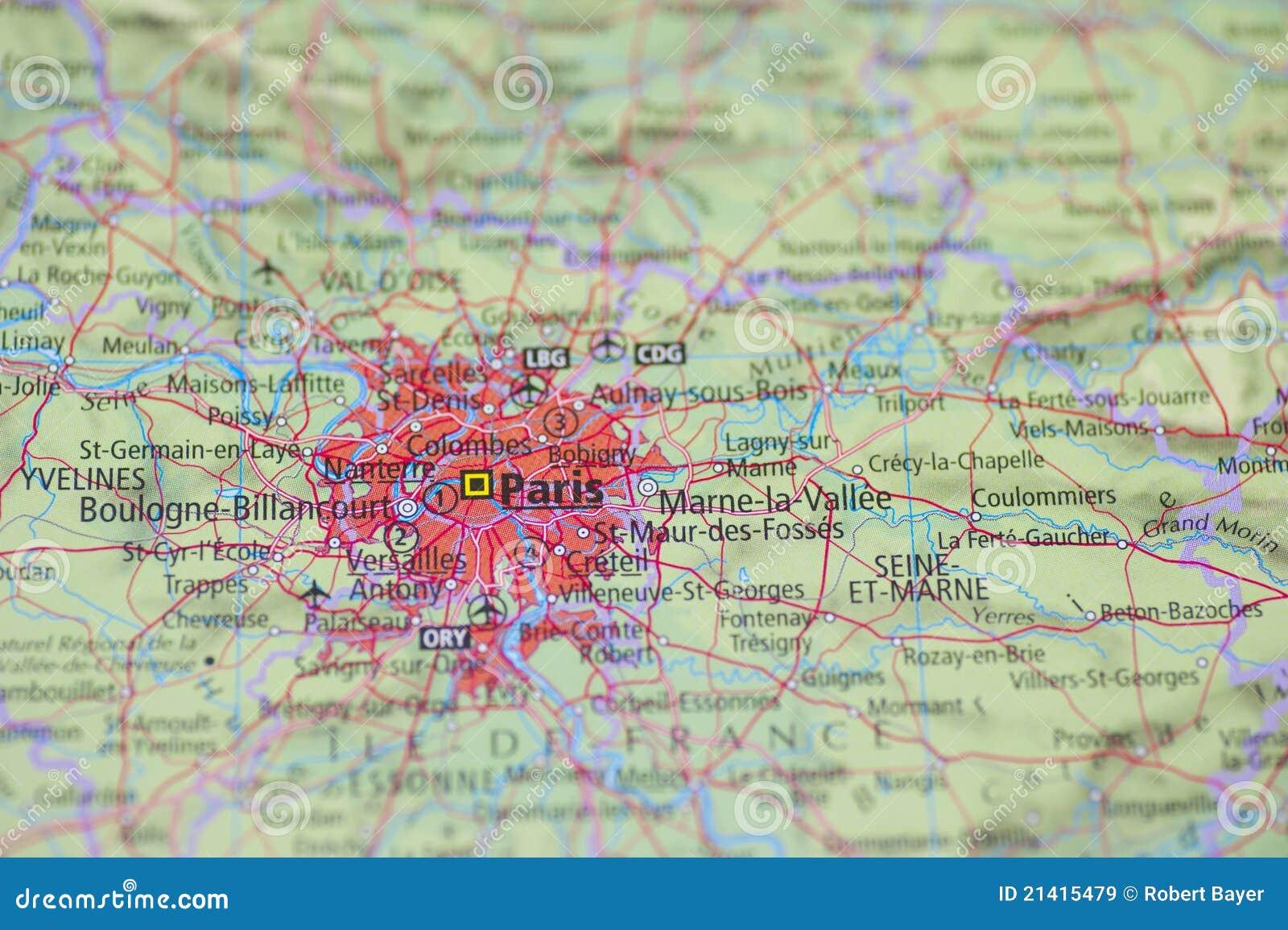 Old paris street map royalty free stock photo image 15885665 - De Kaart Parijs Van De Atlas Royalty Vrije Stock Afbeeldingen