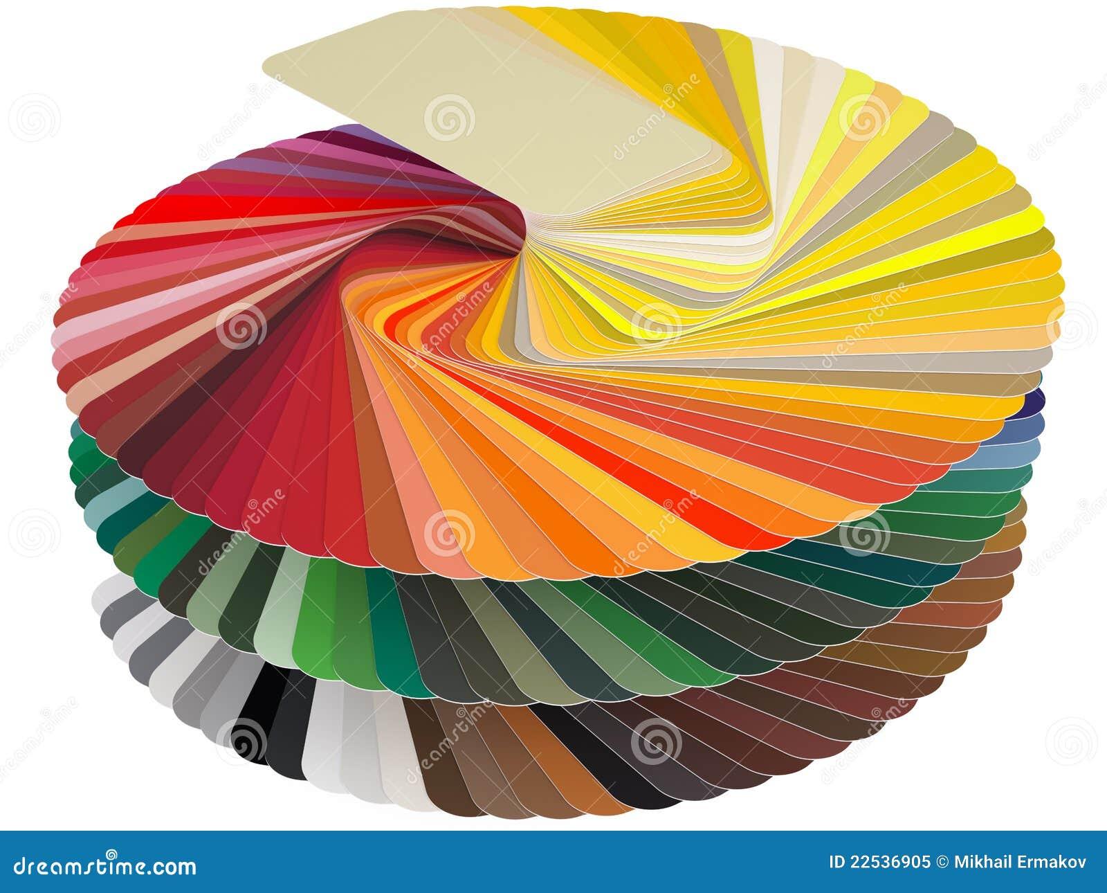 De kaart RAL van de kleur