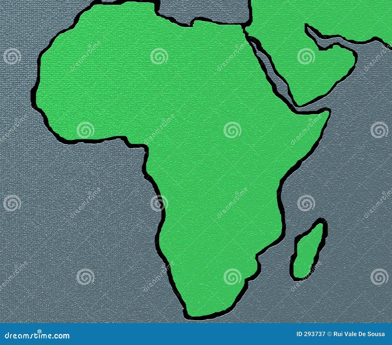 De kaart van Afrika