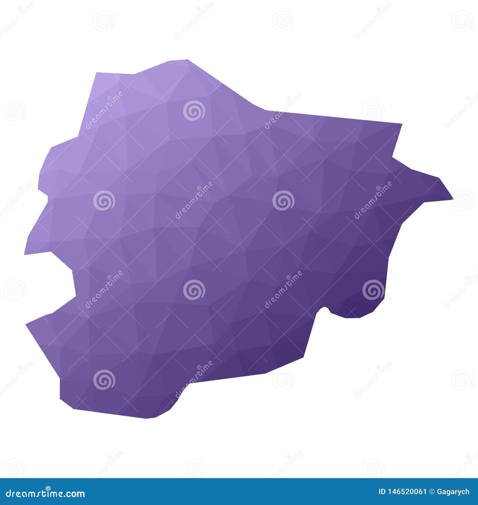 De kaart van Andorra