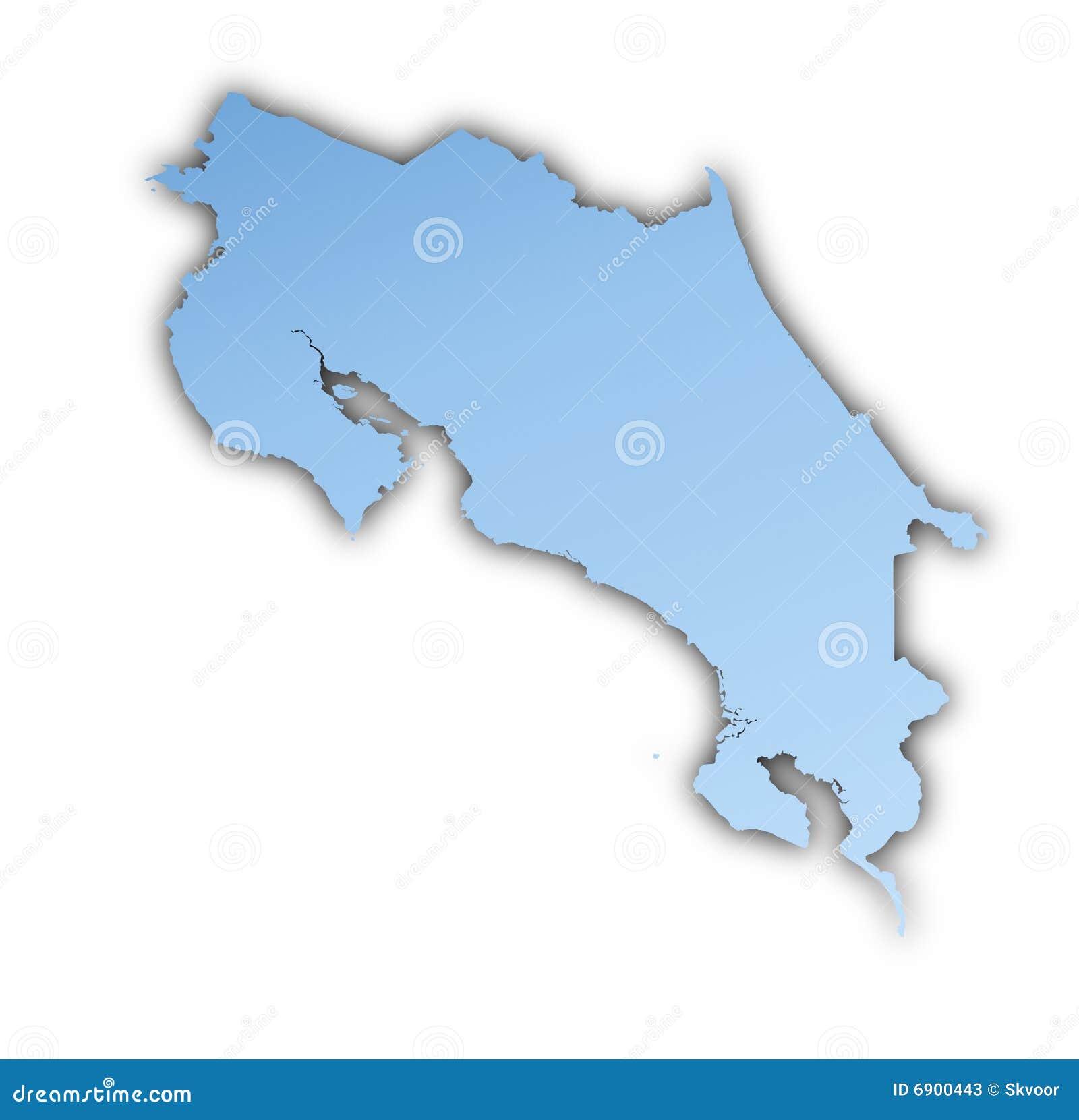 De kaart van Costa Rica