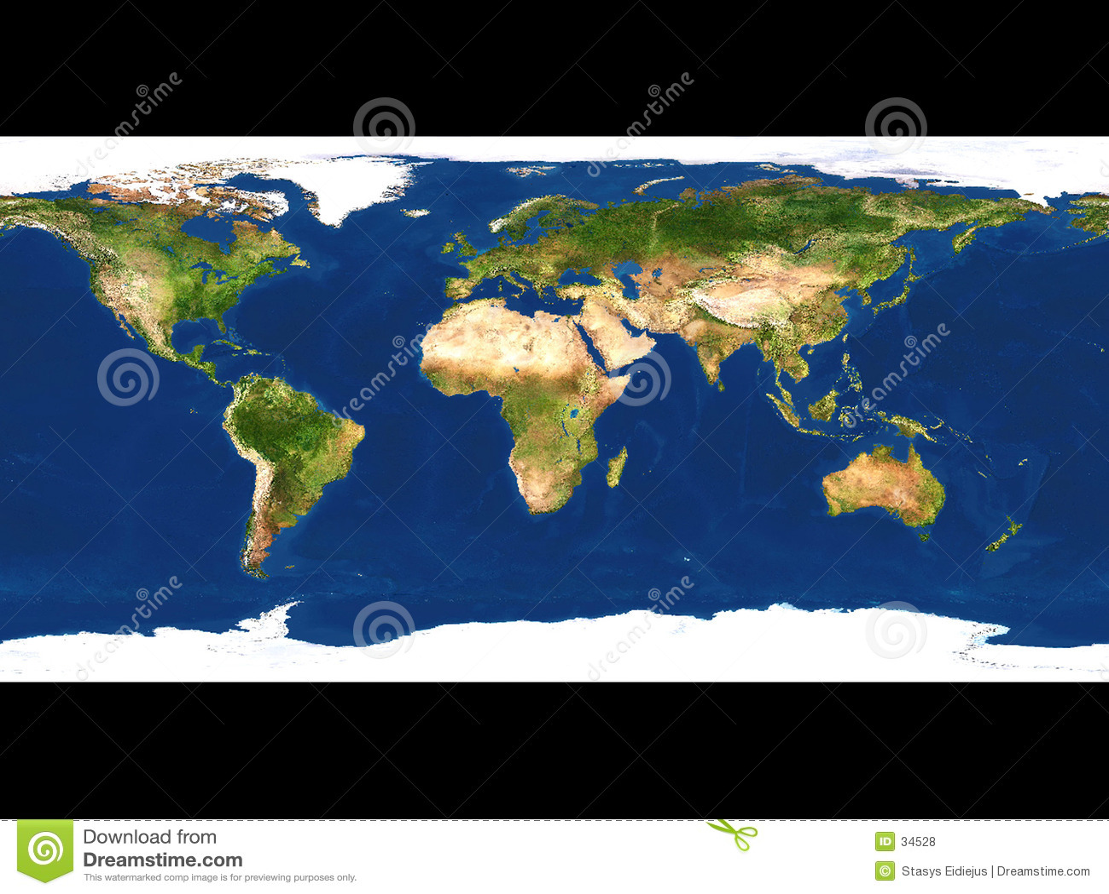 De kaart van de aarde