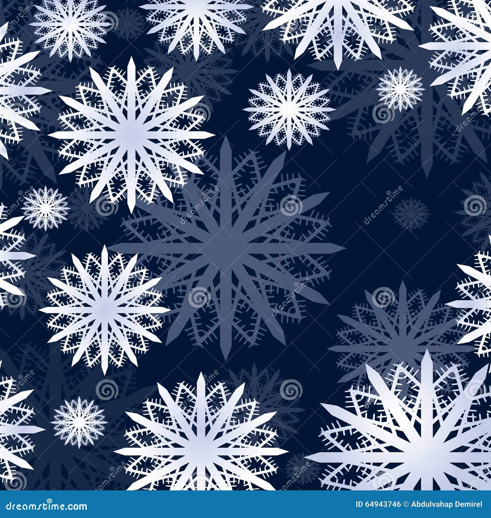 De kaart van de de vlokkenwinter van de Kerstmissneeuw