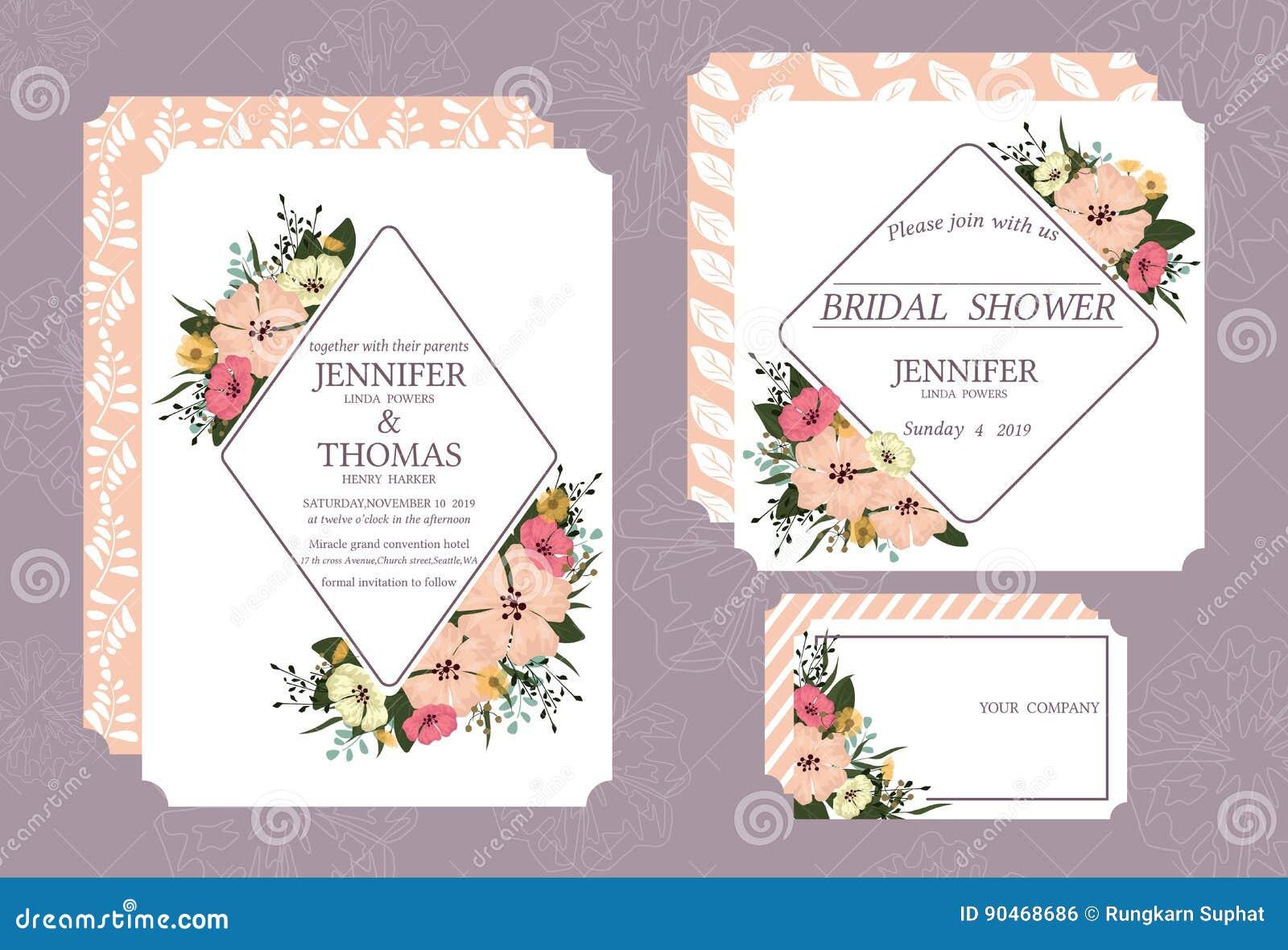 De kaart van de huwelijksuitnodiging in uitstekende stijl op 5 * 7 duim wit karton in voorzijde en rug wordt gedrukt die Geschikt