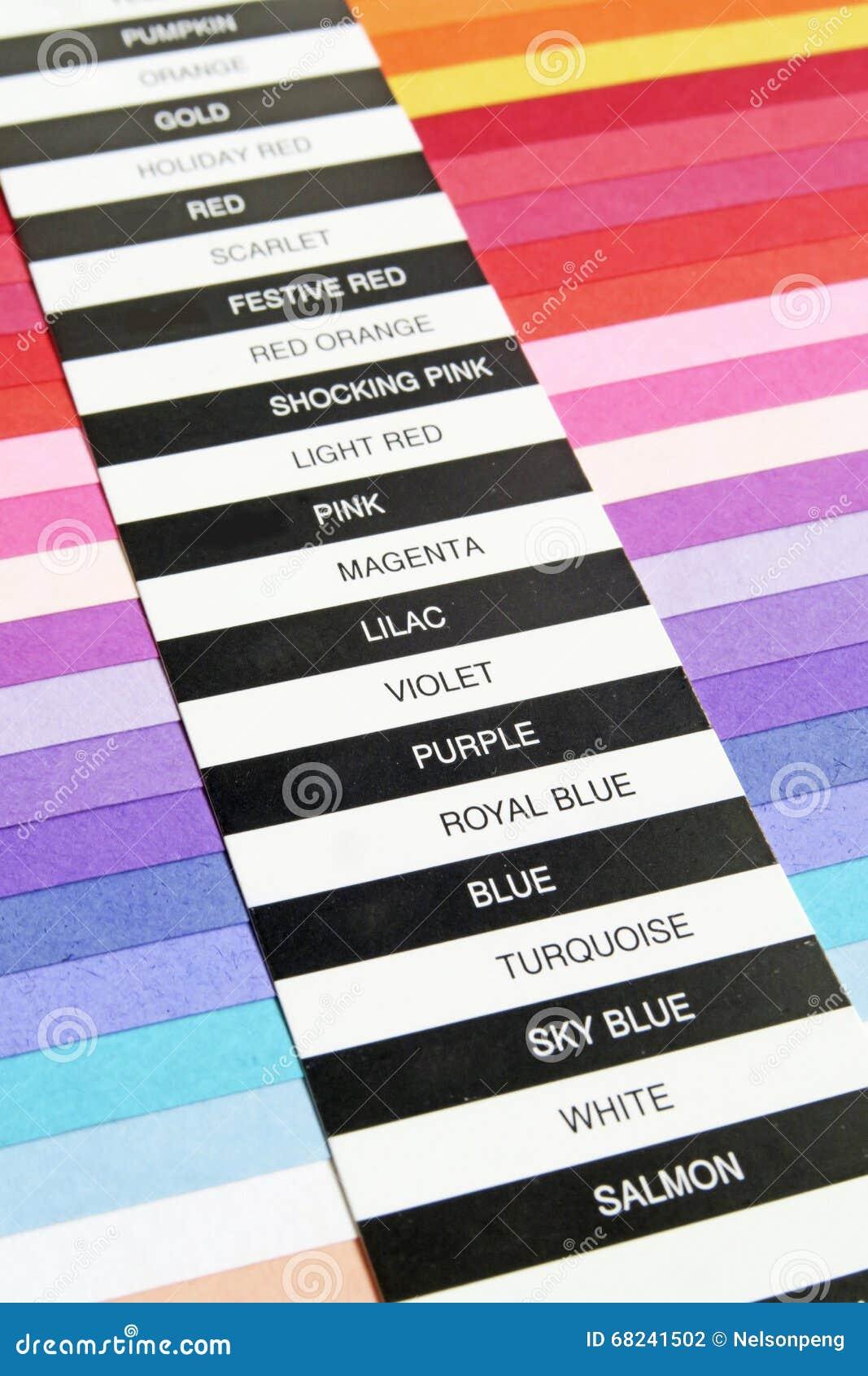 De kaart van de kleur