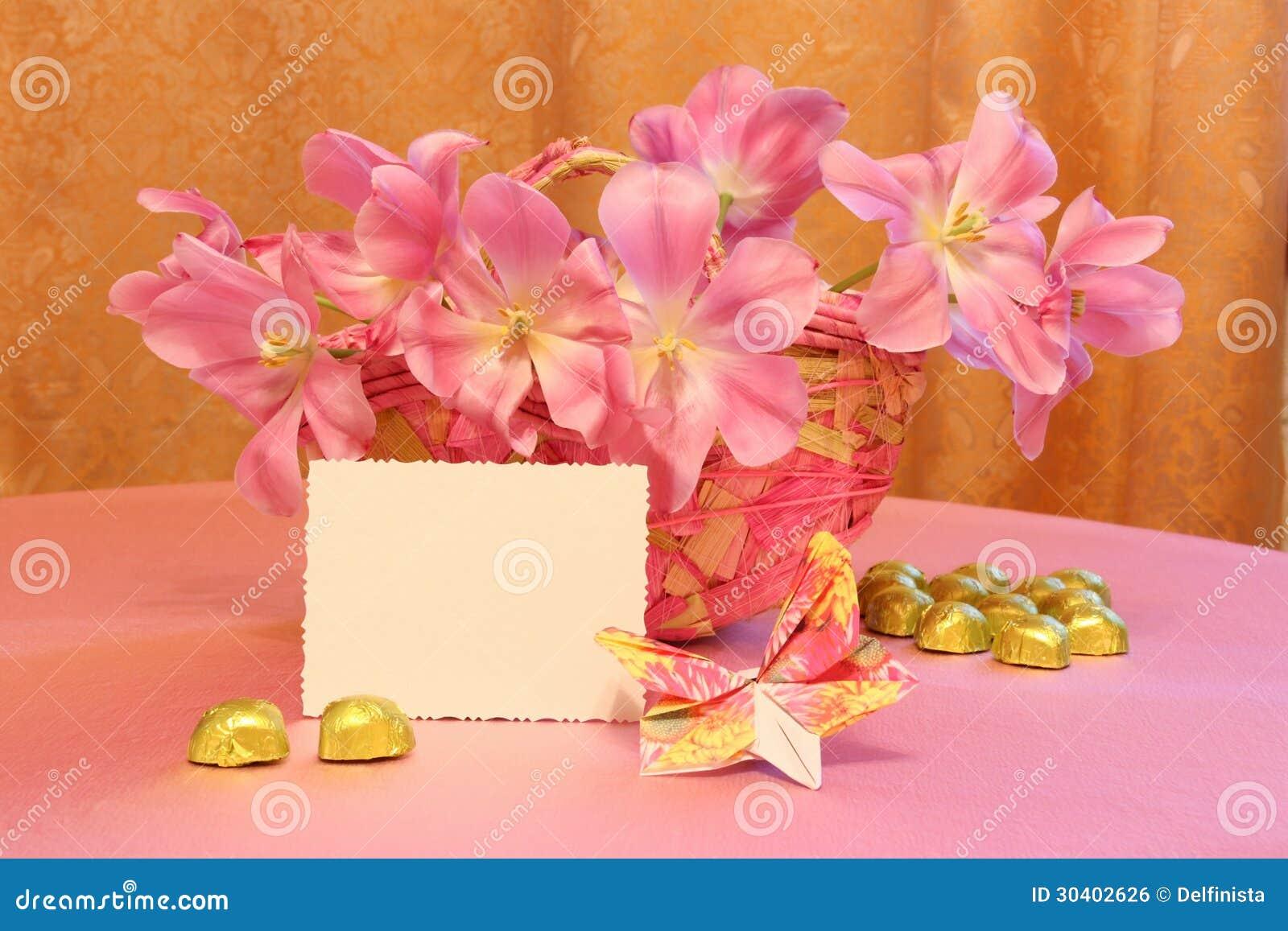 De Kaart van de moedersdag of Pasen-Beeld - Voorraadfoto s