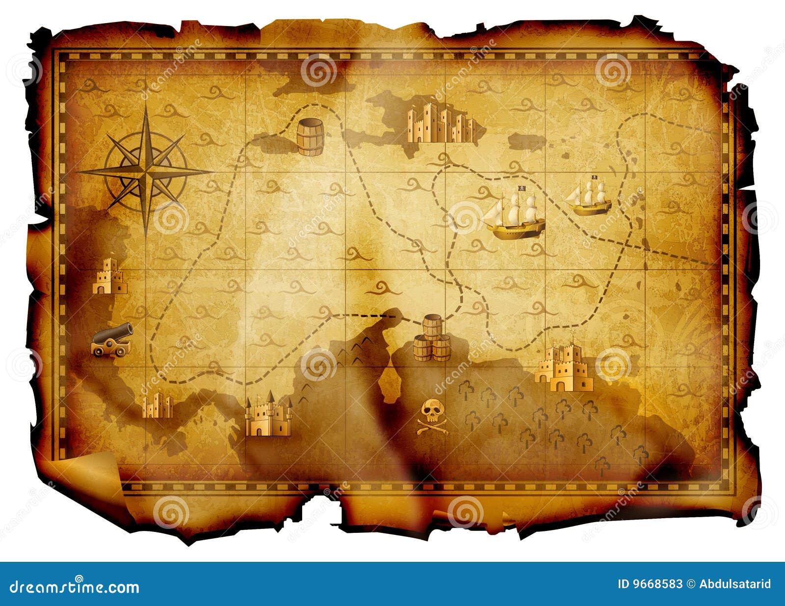 De kaart van de schat