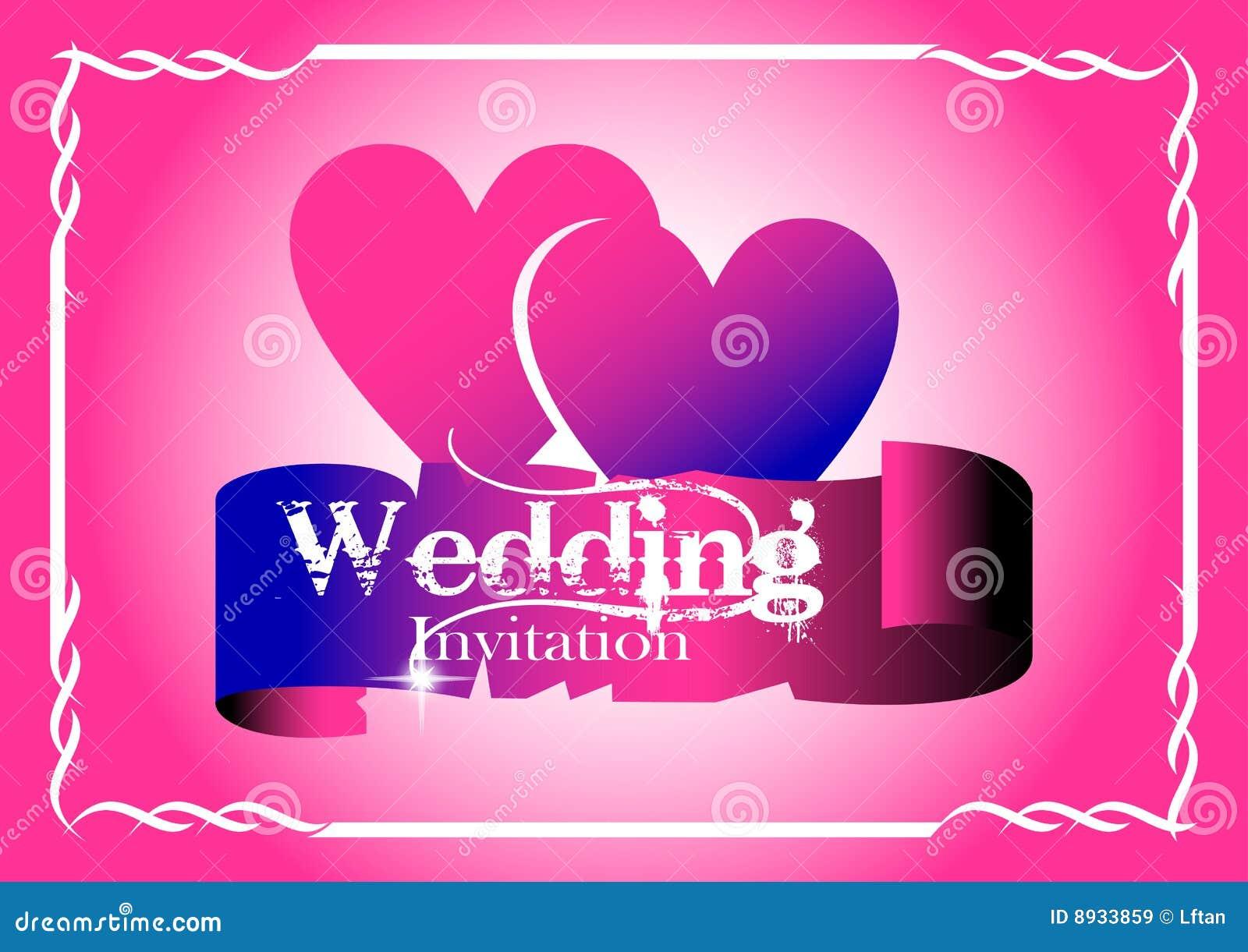 De Kaart van de Uitnodiging van het huwelijk