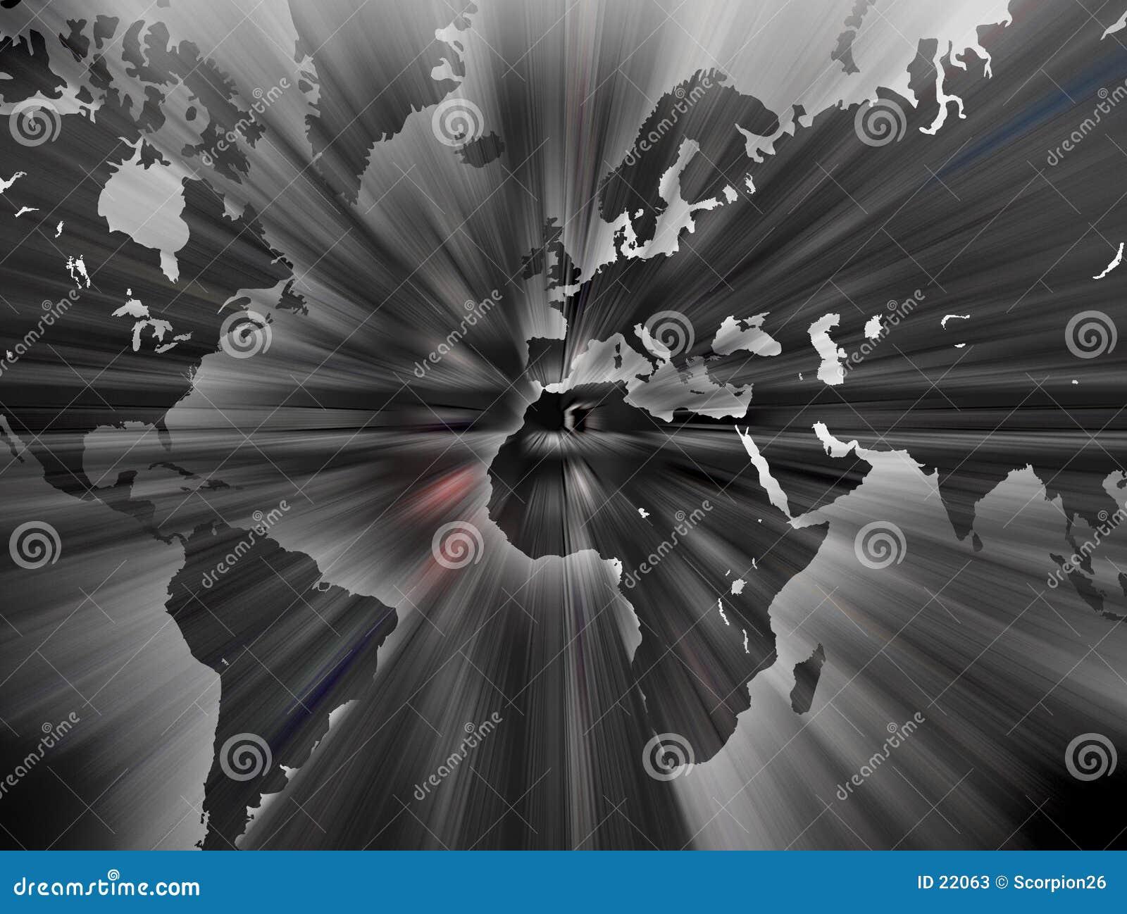 De kaart van de wereld.