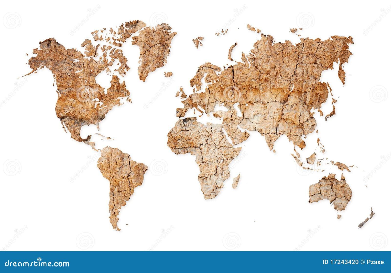 De kaart van de wereld continenten van droge verlaten grond stock illustratie afbeelding - Kennedy huis van de wereld ...
