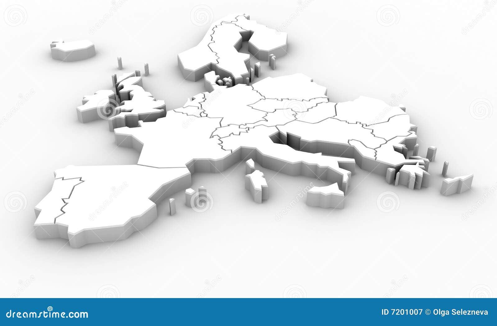 De kaart van Europa