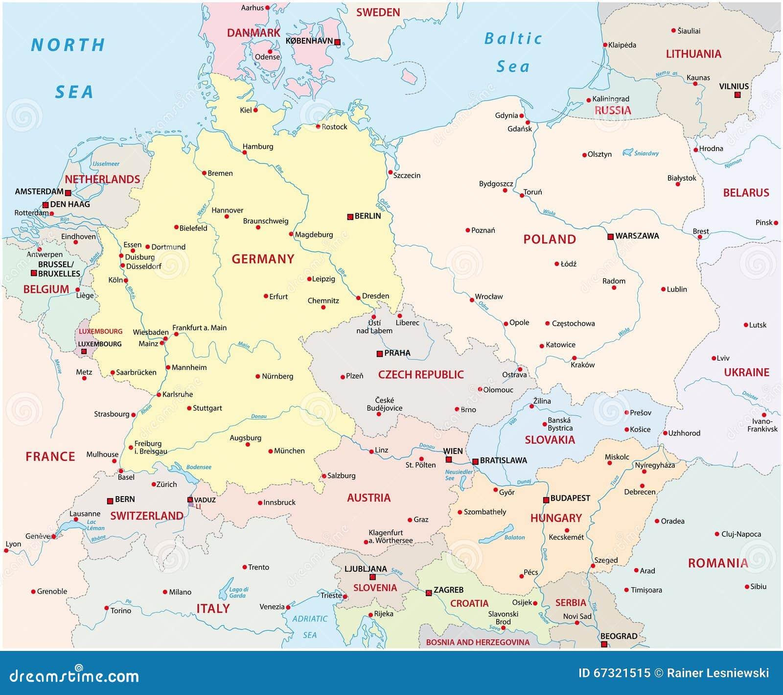 Heloohaloo 25 Het Beste Kaart Midden Europa