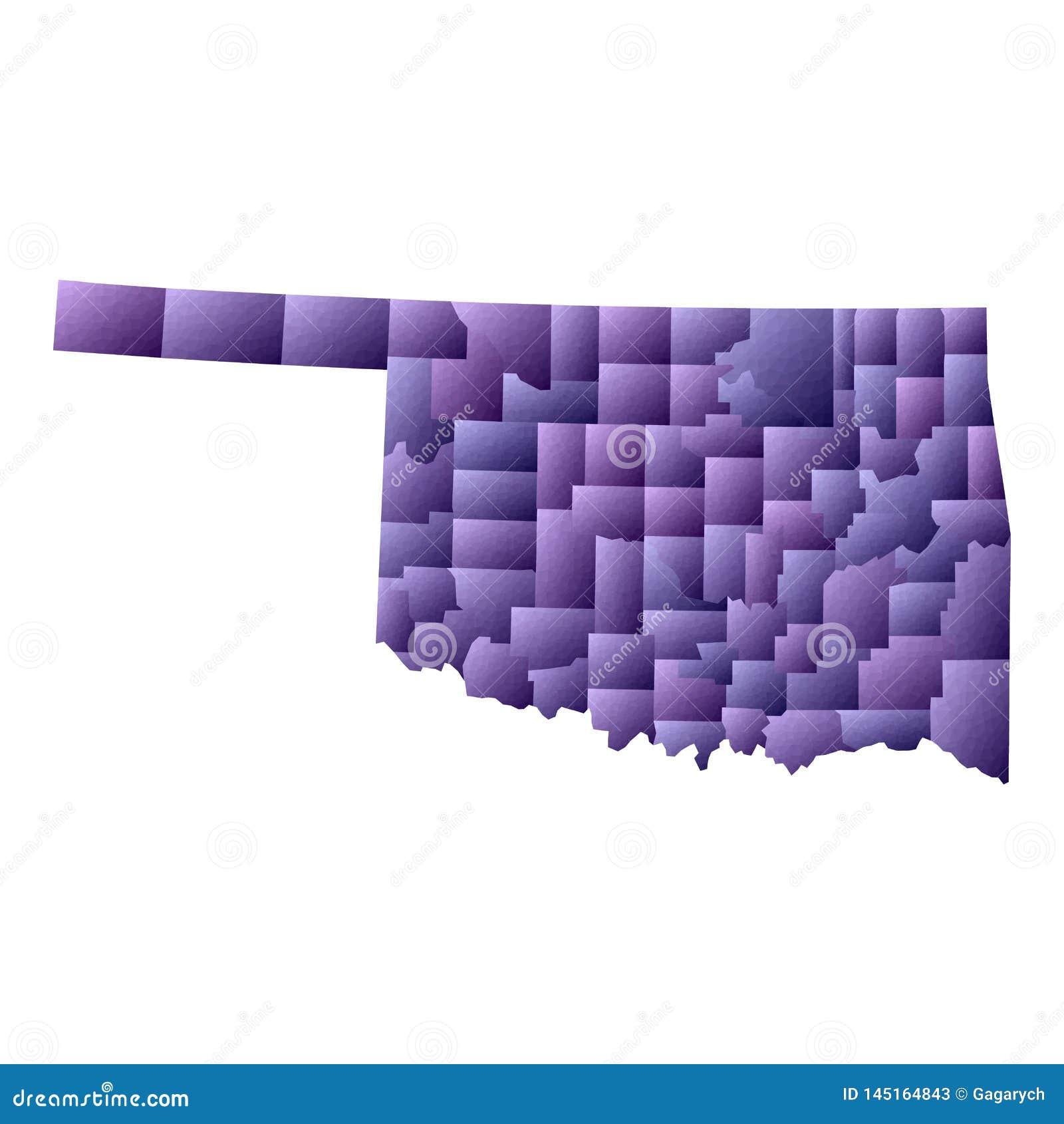 De kaart van Oklahoma